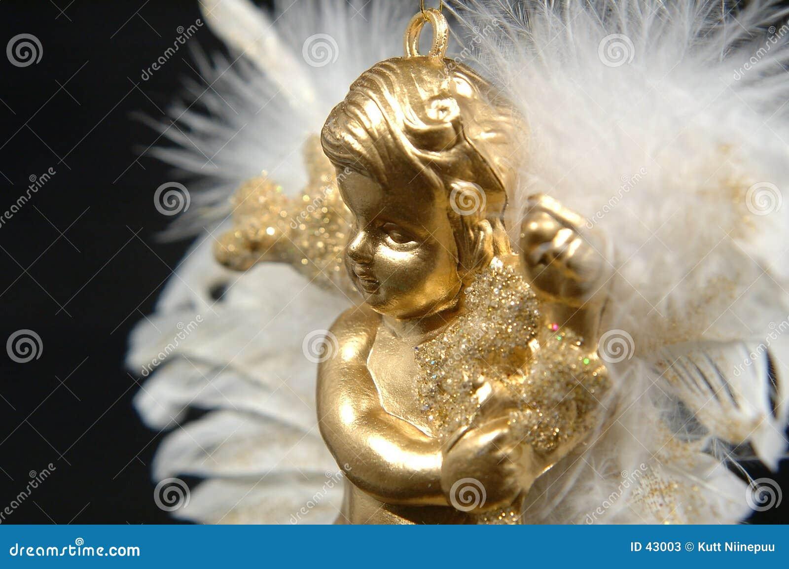 Ornamento do Natal - anjo dourado, parte IV