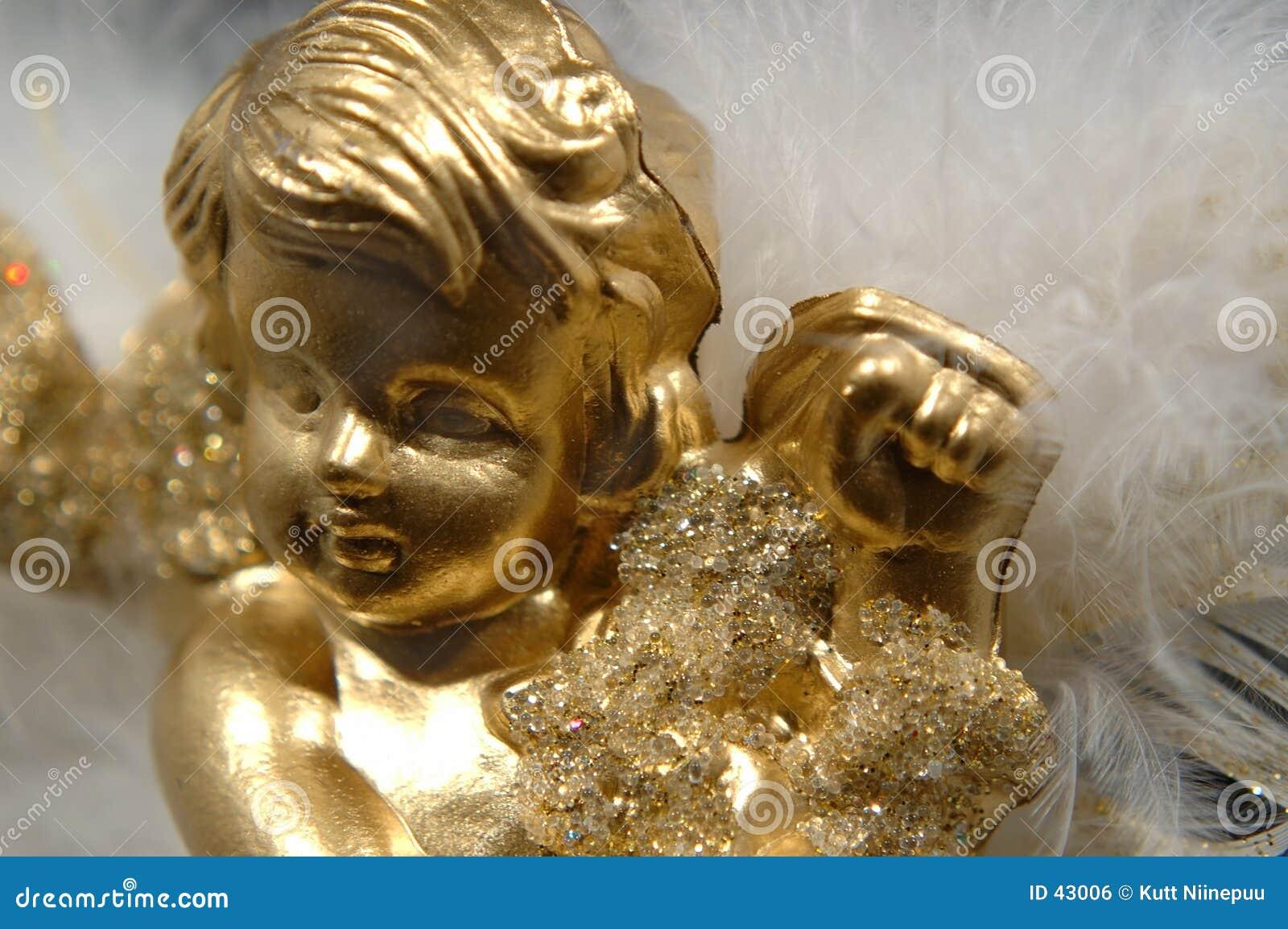 Ornamento do Natal - anjo dourado, parte V