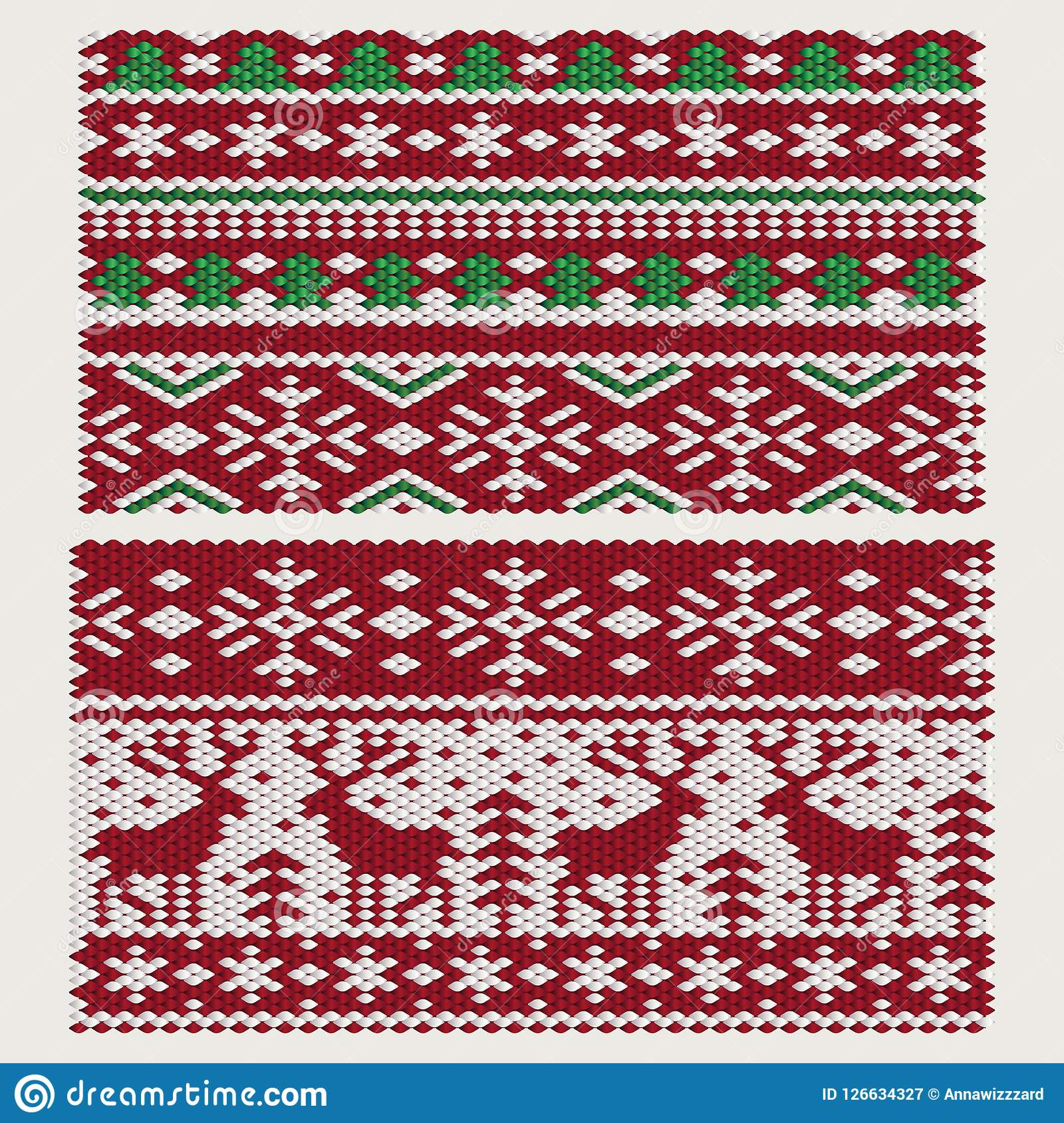 Ornamento do Natal sem emenda do vetor e do ano novo Ilustração Stock