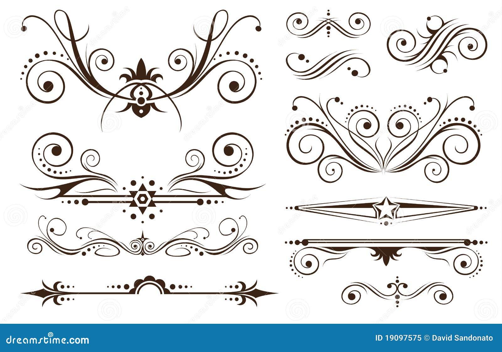 Ornamento E Decorazione Per I Disegni Classici Fotografia