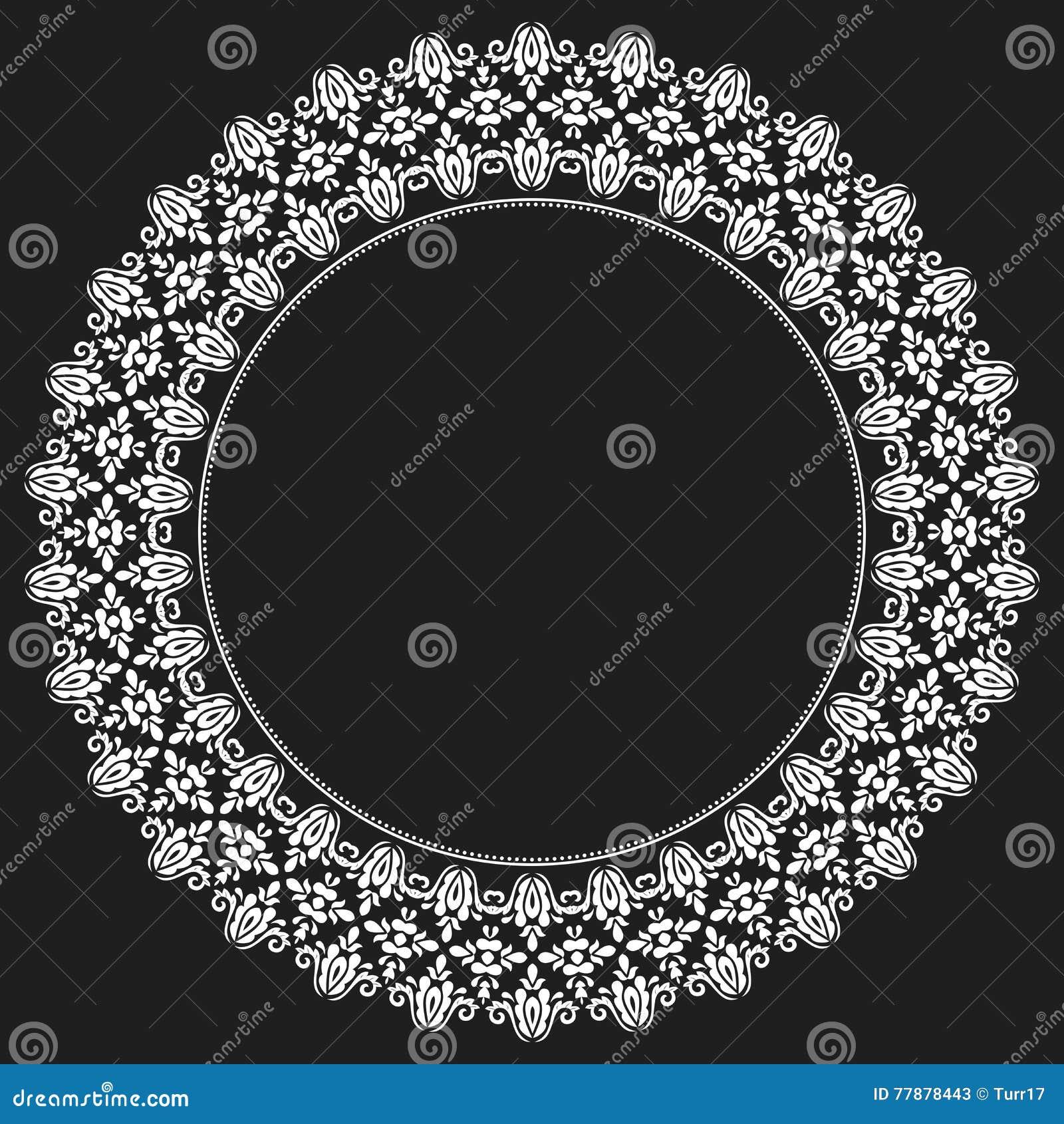 Ornamento Elegante Del Vector En El Estilo De Barogue Ilustración del Vector