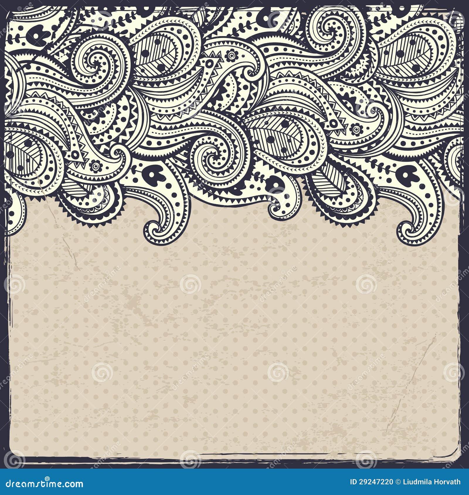 Download Ornamento floral bonito ilustração do vetor. Ilustração de decoração - 29247220
