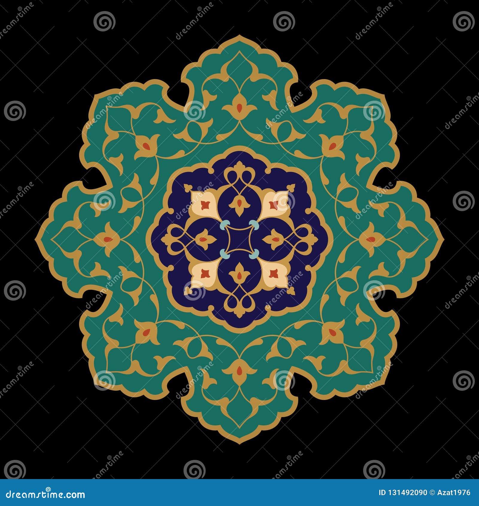 Ornamento floreale arabo