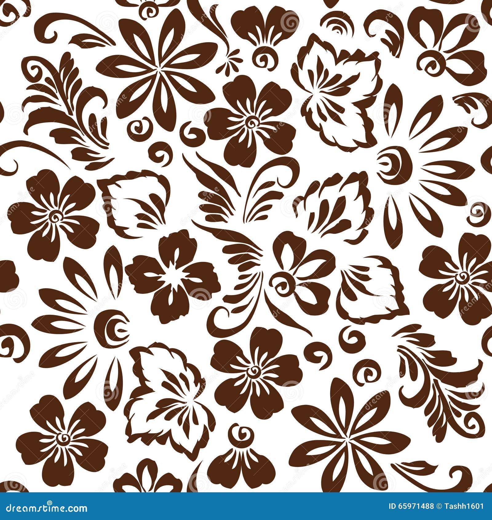 Ornamento Floreale Stilizzato Illustrazione Vettoriale
