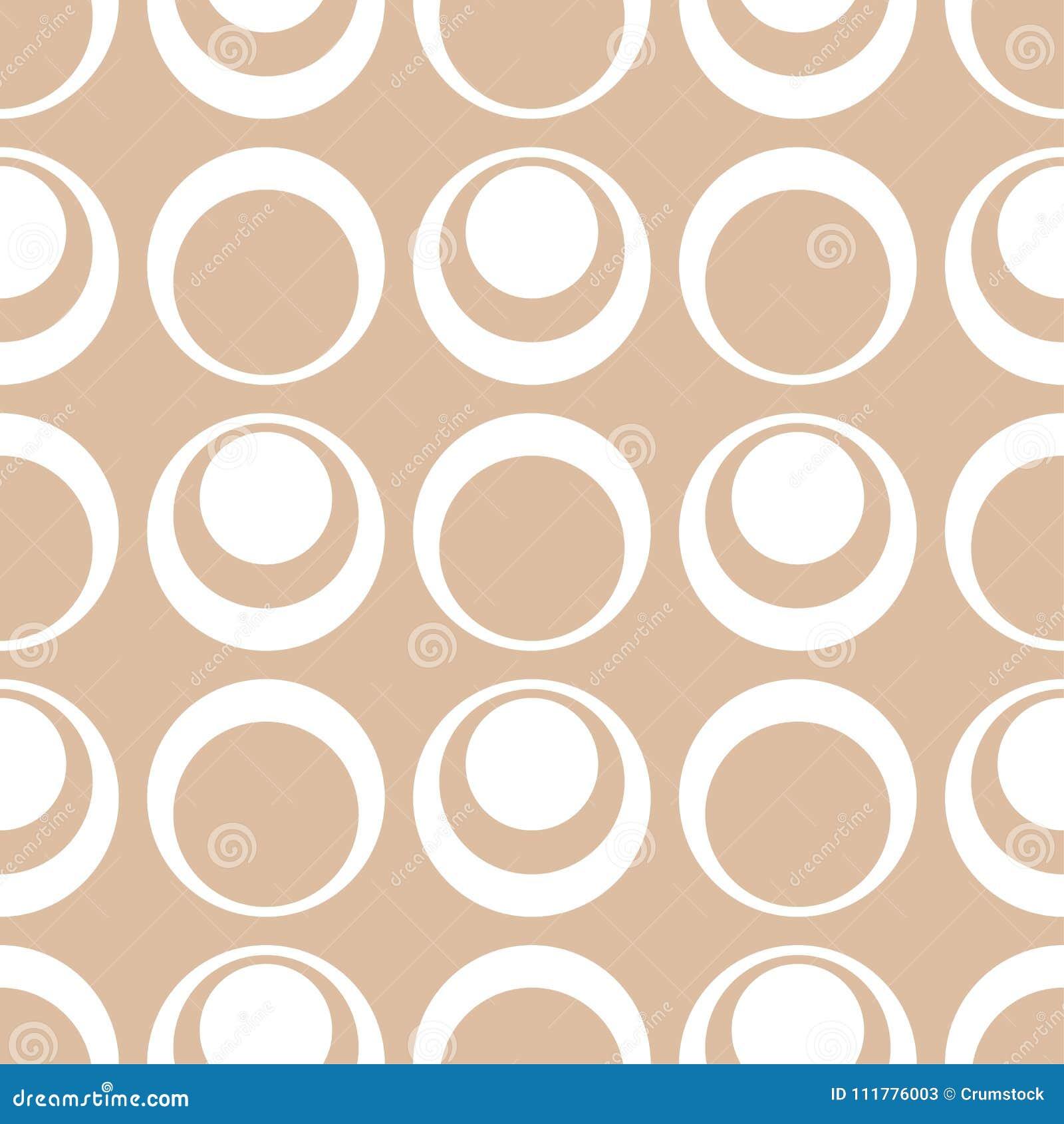 Ornamento geometrico beige e bianco Reticolo senza giunte