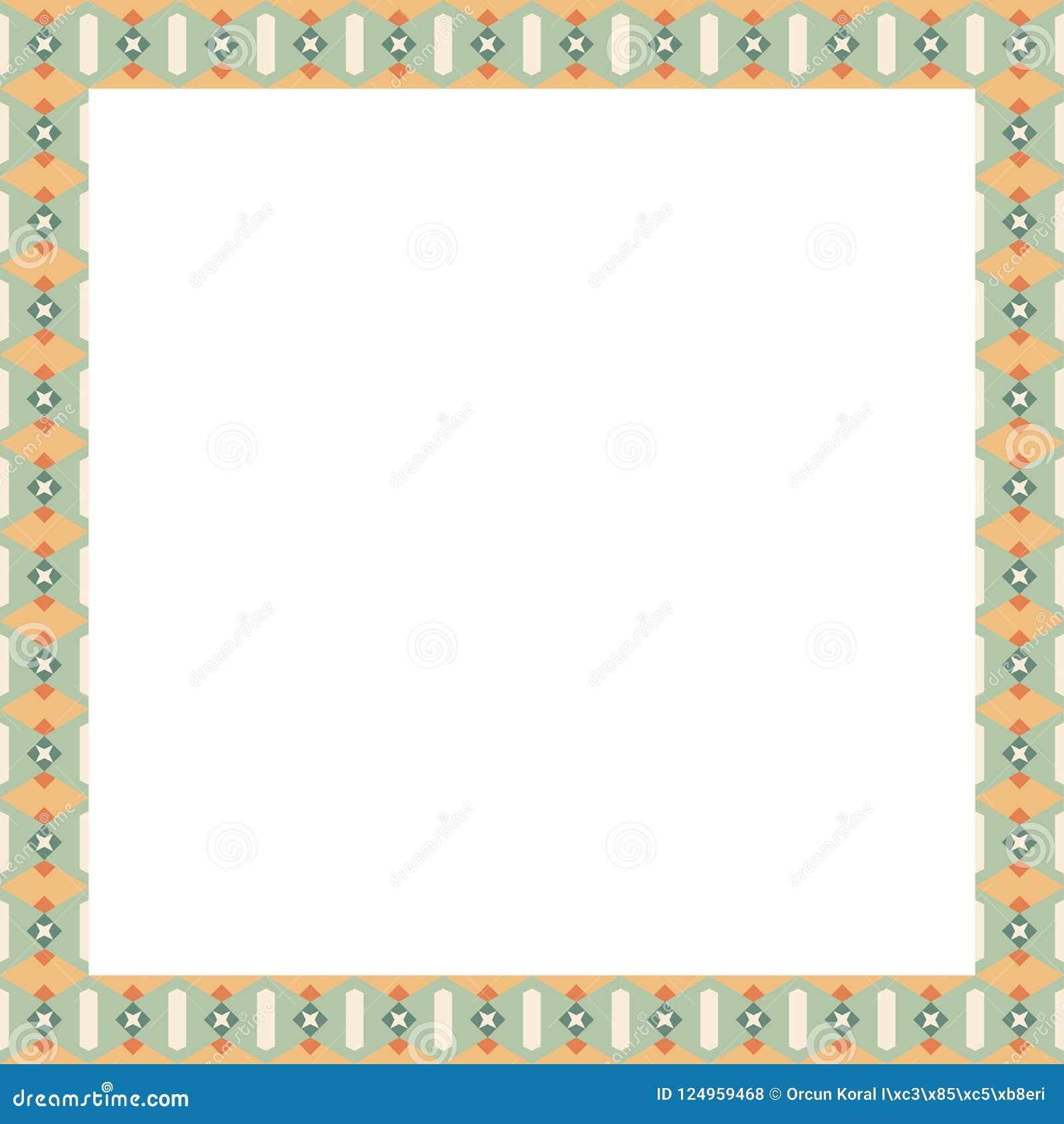 Ornamento mediterráneo de la puerta del tablero de la presentación hecho por las portillas coloridas