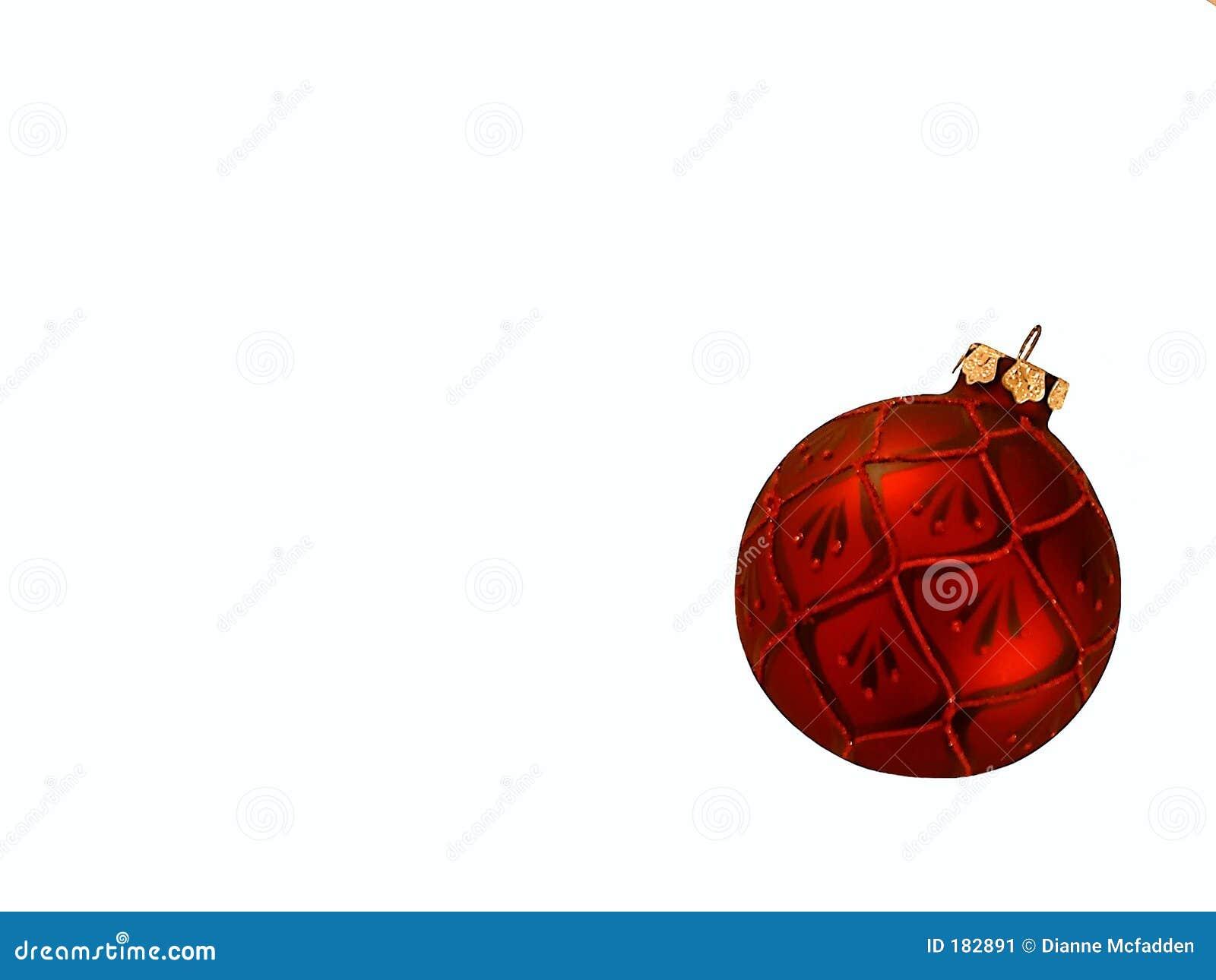 Ornamento rojo de la Navidad