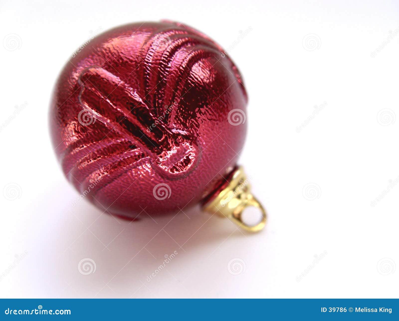 Download Ornamento Rojo De La Navidad Foto de archivo - Imagen de cosas, holidays: 39786