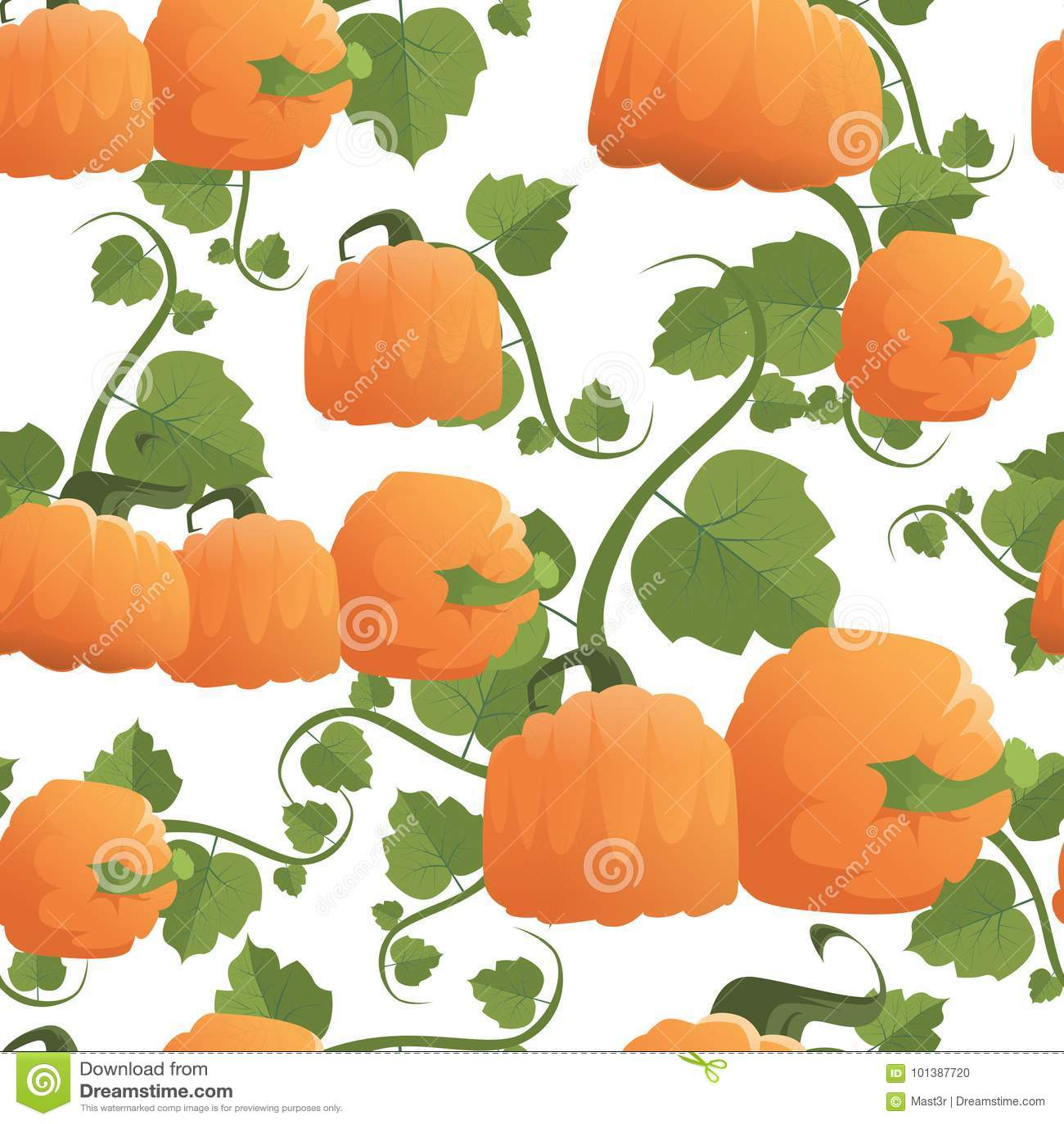 Ornamento senza cuciture di Autumn Harvest Concept Season Fall del fondo del modello della zucca