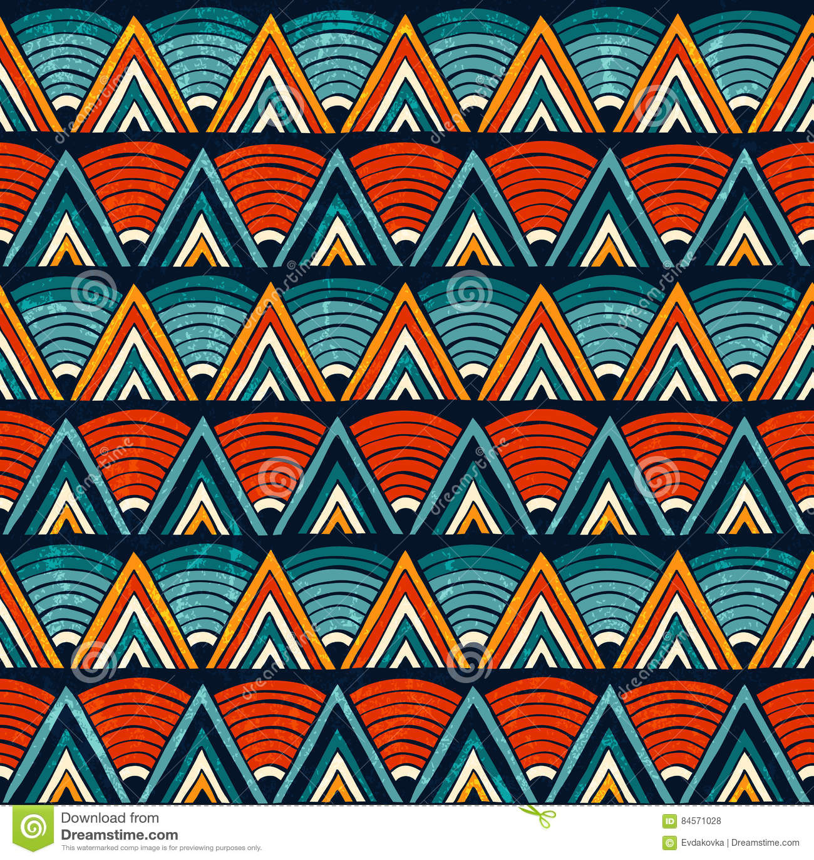 Ornamento Tribal En Colores Vibrantes Fondo Abstracto Inconsútil Del