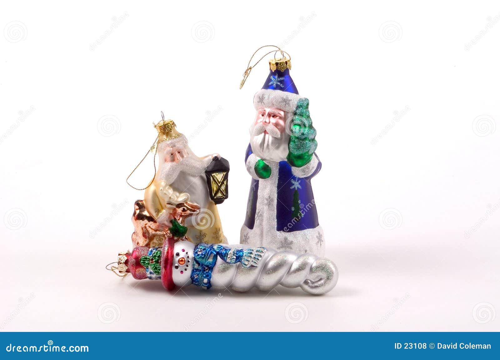 Ornamentos de cristal grandes del árbol