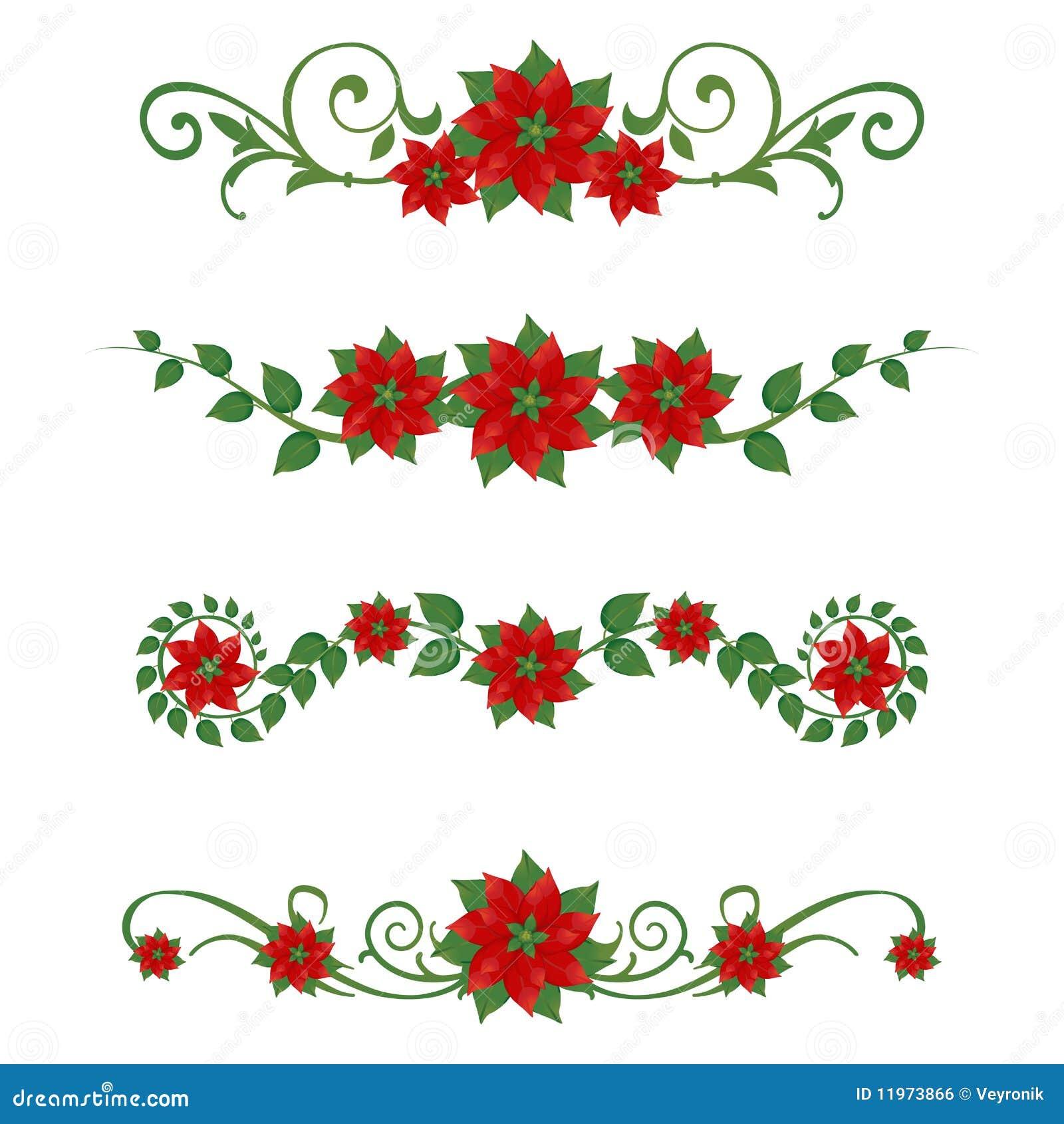 Ornamentos de la navidad del poinsettia imagen de archivo - Ornamentos de navidad ...
