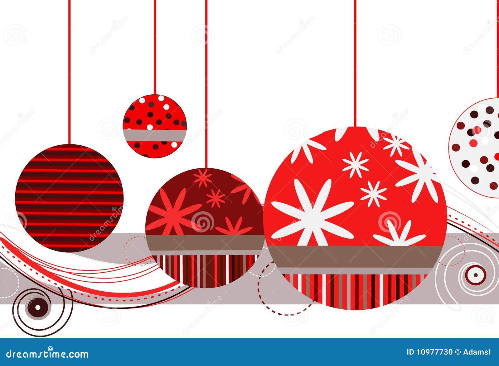 Ornamentos de la navidad en rojo foto de archivo imagen - Ornamentos de navidad ...