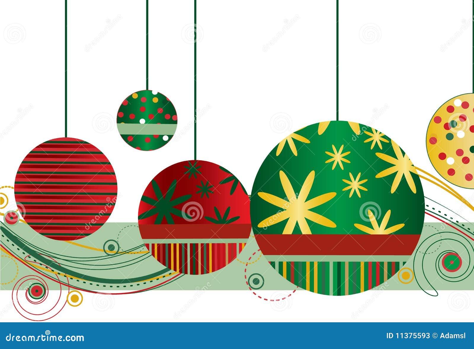 Ornamentos de la navidad en rojo y verde fotos de archivo - Ornamentos de navidad ...