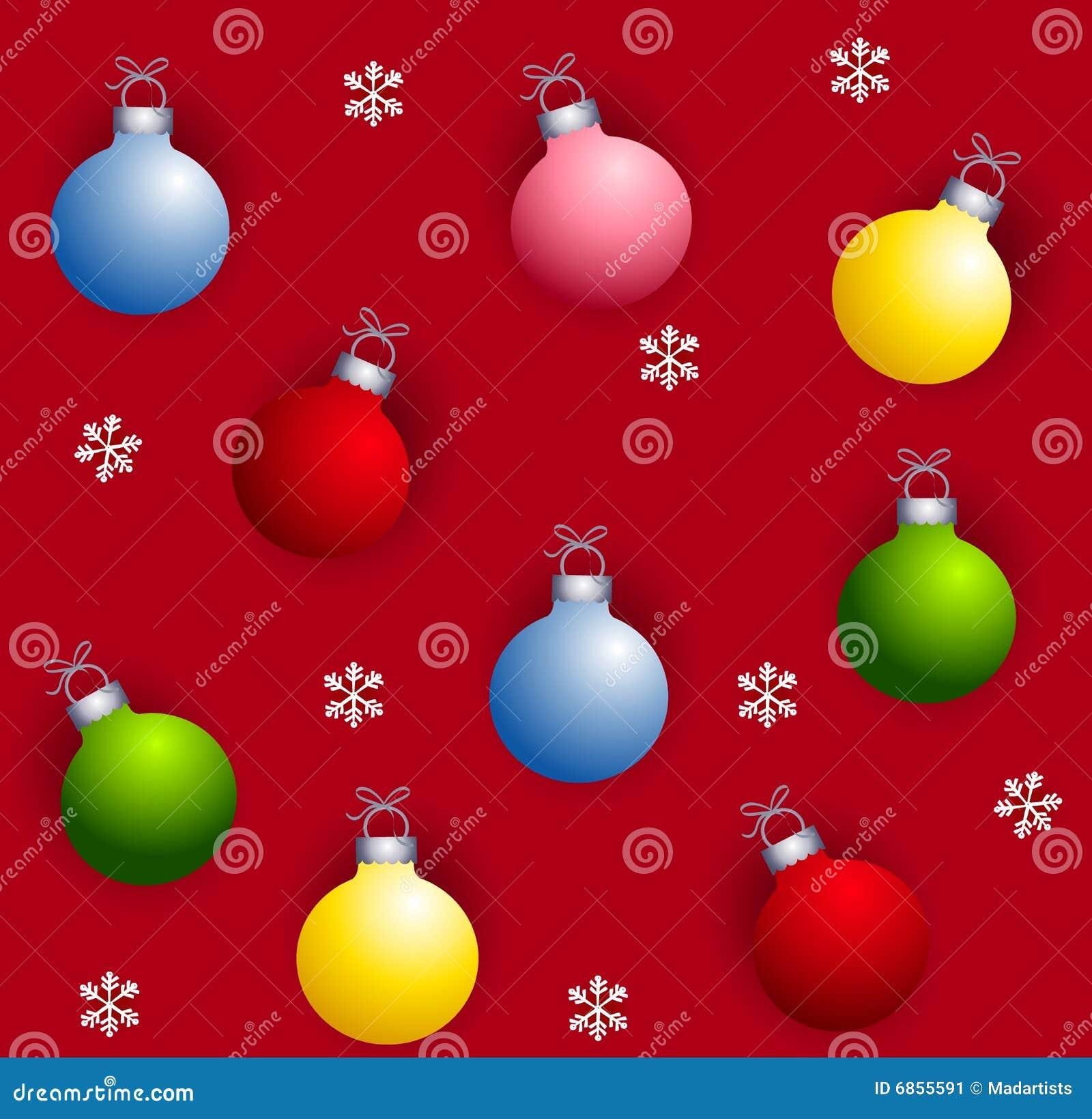Ornamentos de navidad de tileable imagen de archivo - Ornamentos de navidad ...