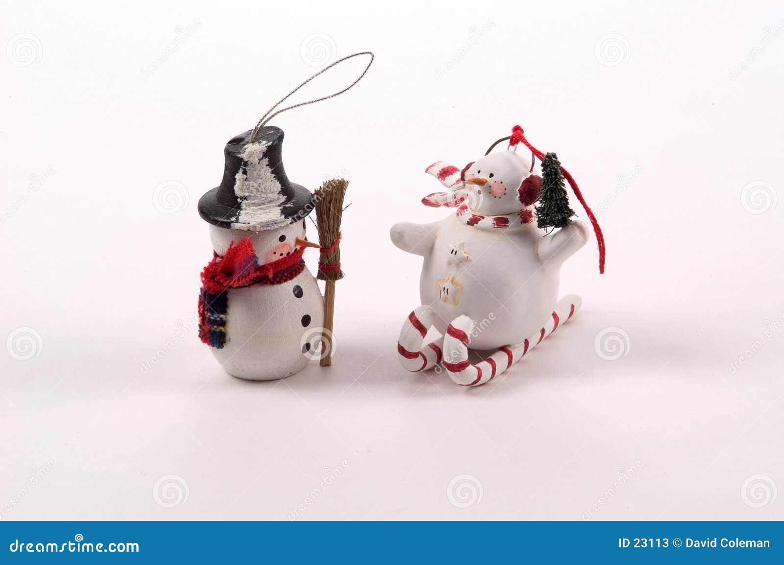 Ornamentos del árbol del muñeco de nieve