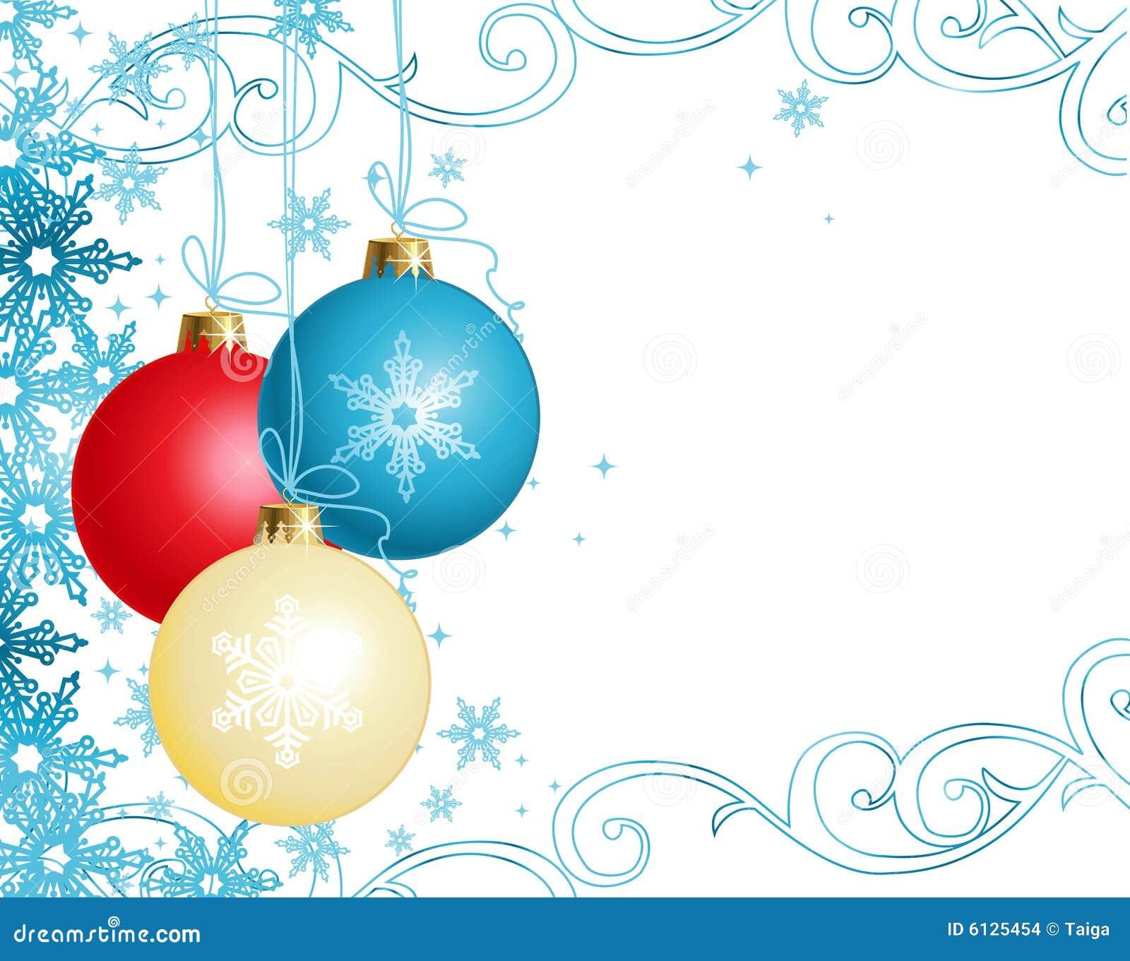 Ornamentos/vector de la Navidad