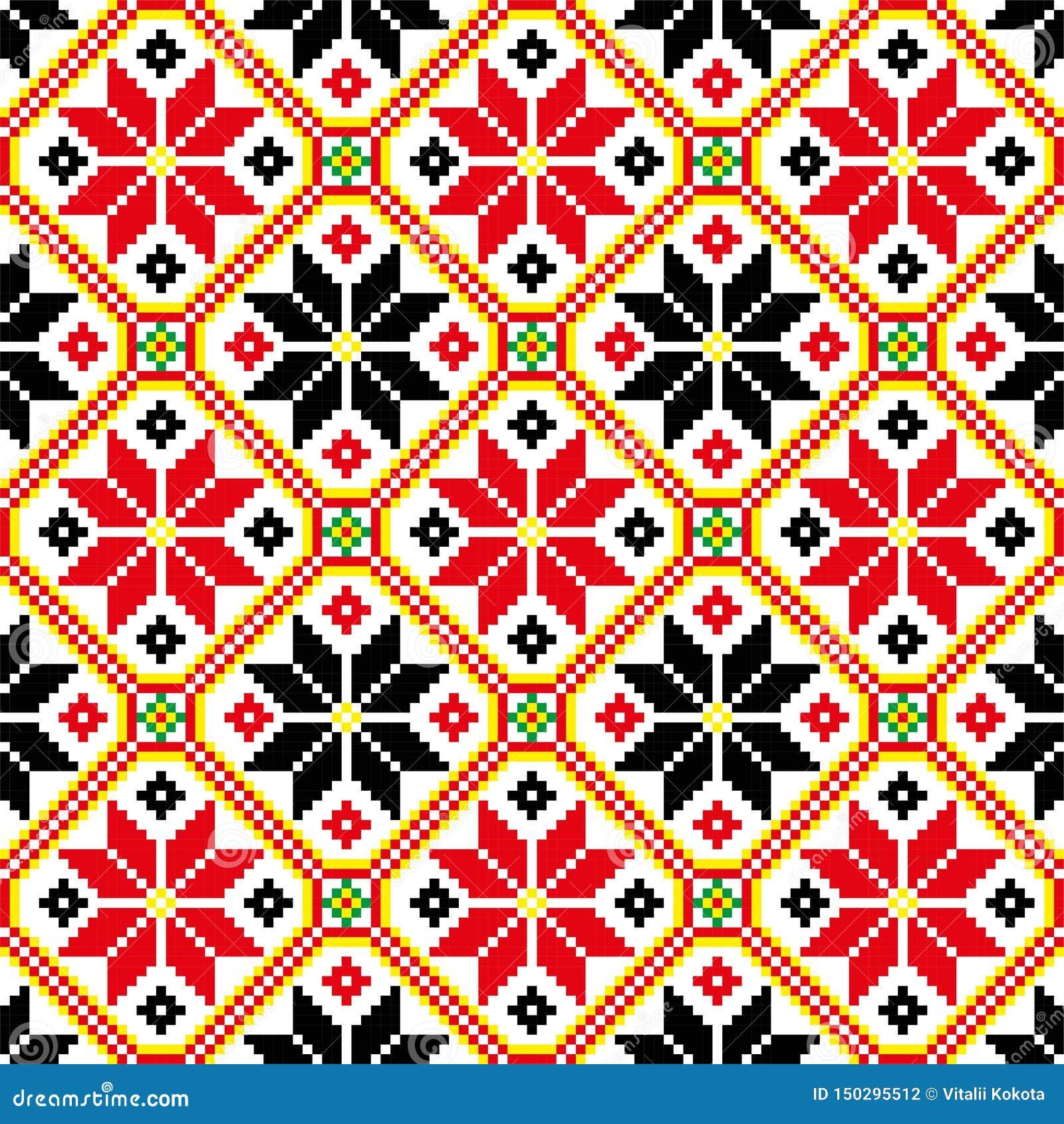 Ornamet de Etno Vyshyvka ucraniano Ornamento ucraniano
