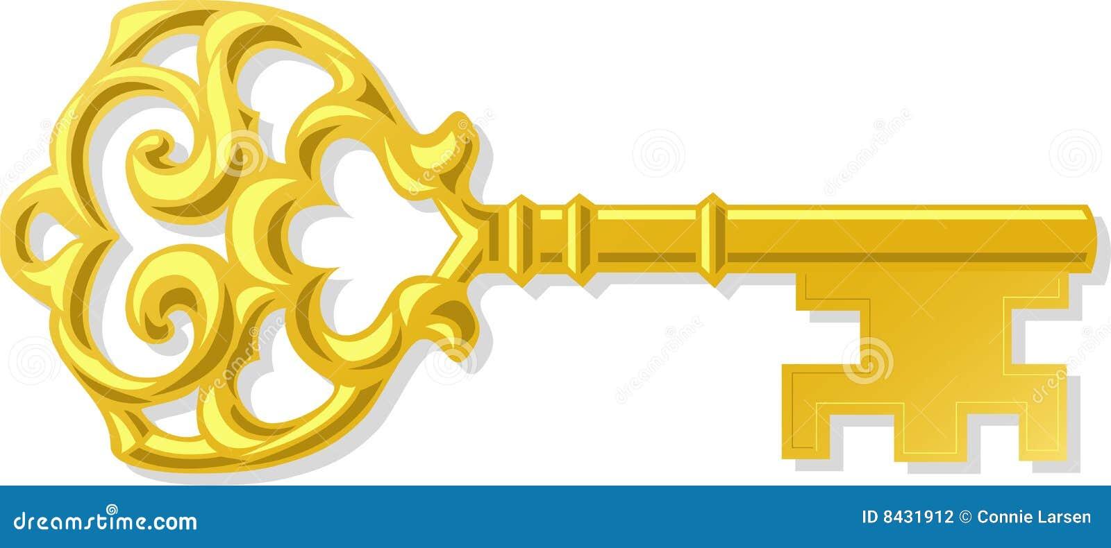Ornate Antique Gold Key Eps Stock Photography Image 8431912