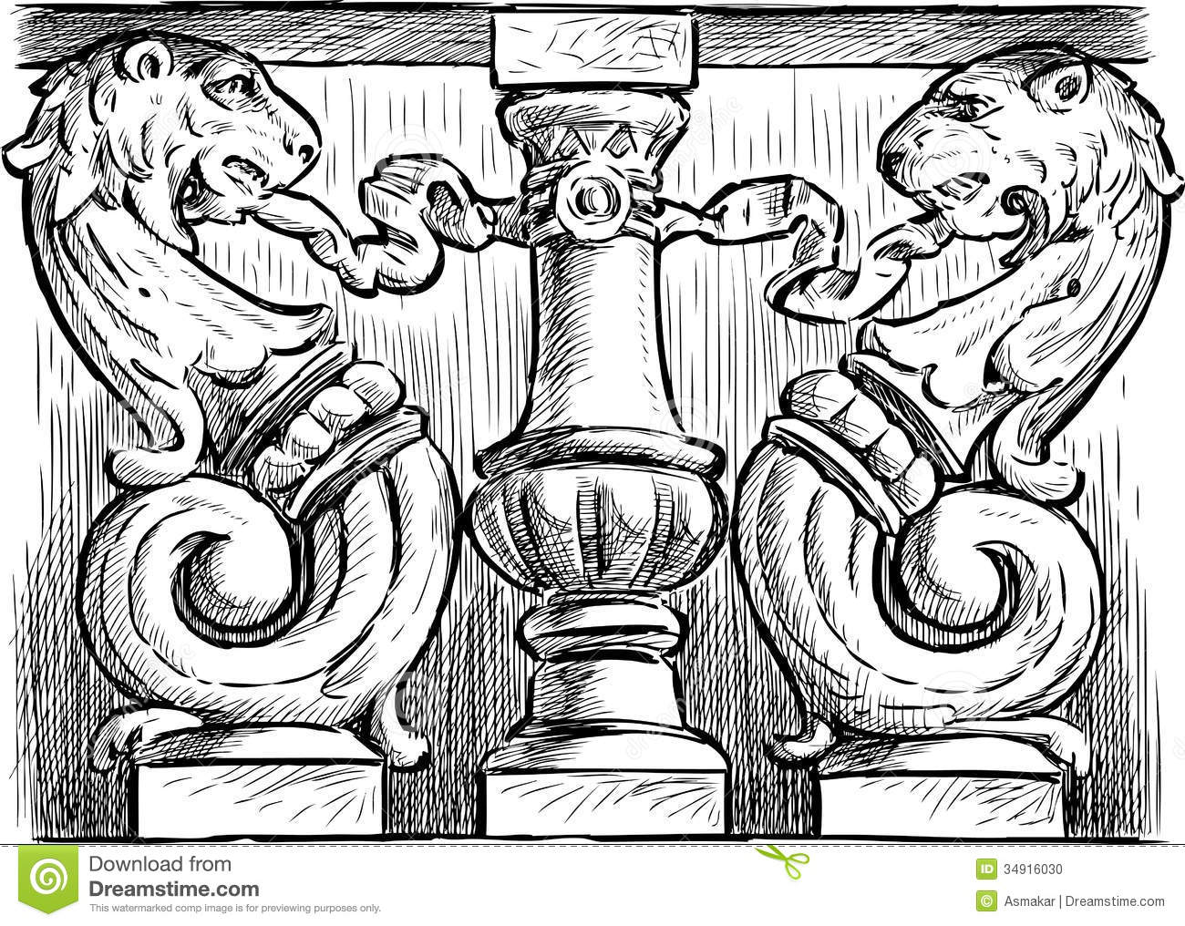 Ornate Architectural Detail Stock Photo
