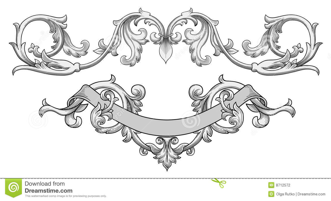 Stock Photography Ornate Banner Vector Image8712572 on art deco heart clip