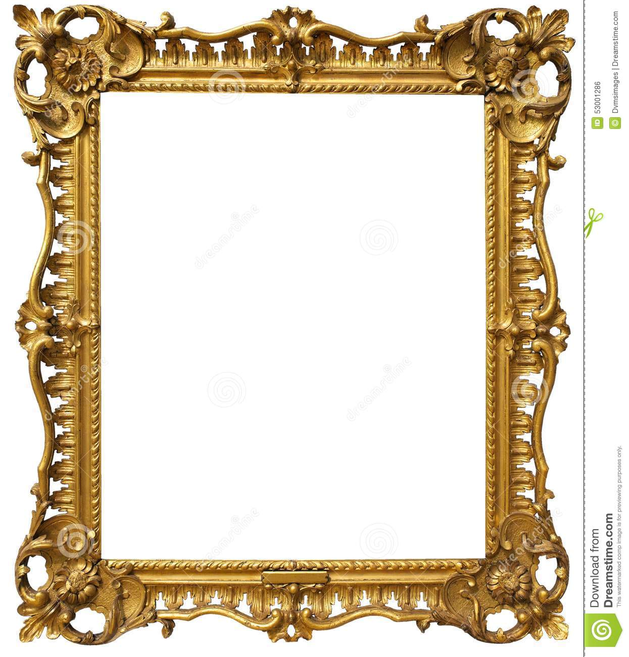 Ornate baroque gold frame stock photo image 53001286 - Antique white picture frames ...