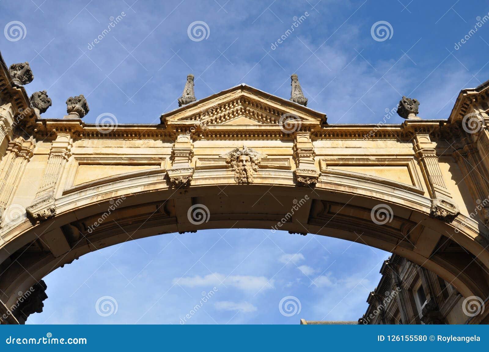 Ornate Bridge With Roman Reliefs Stock Photo Image Of