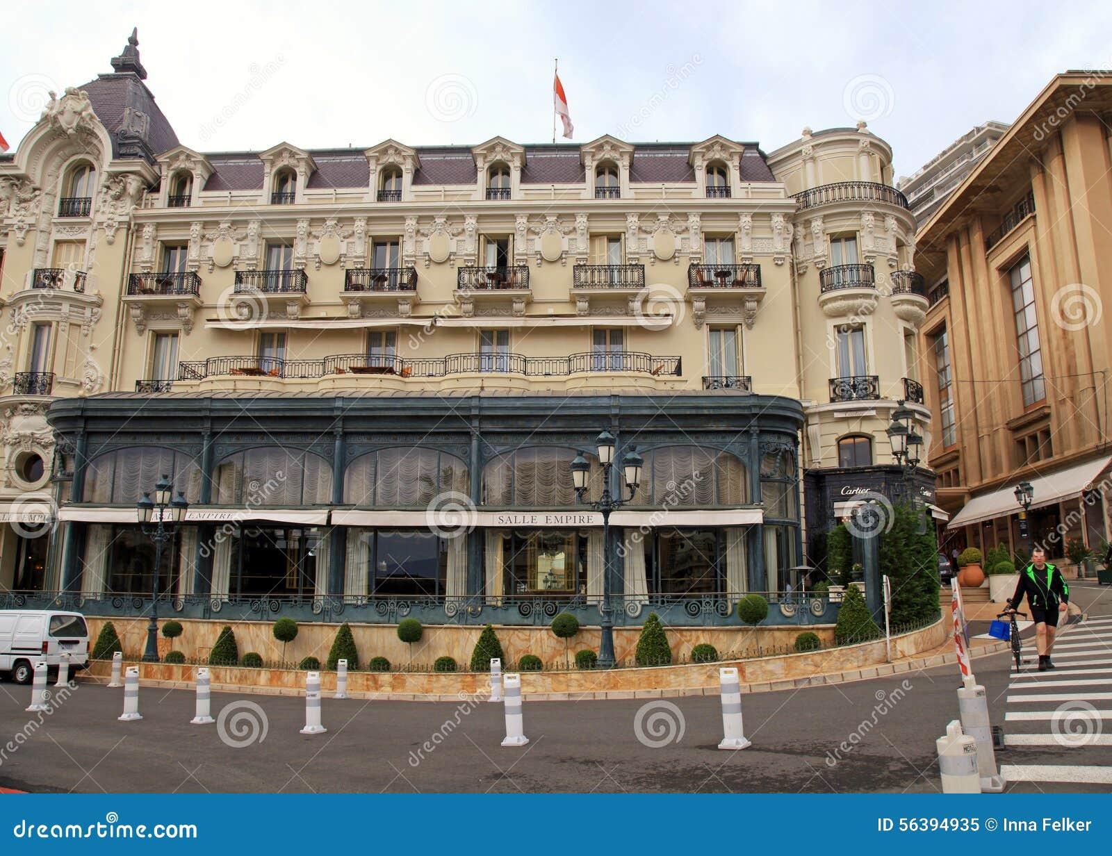 Ornate Building Of Hotel De Paris Monte Carlo Editorial