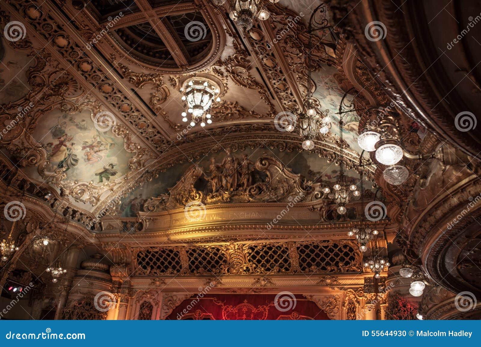 Ceiling Lights Blackpool : Ornate ceiling at blackpool s tower ballroom stock photo