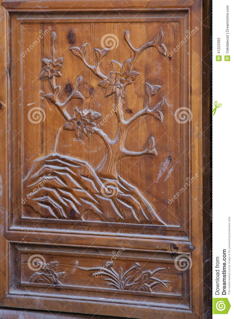 Ornate chinese door stock photo image 41223393 - Door wood carving designs ...