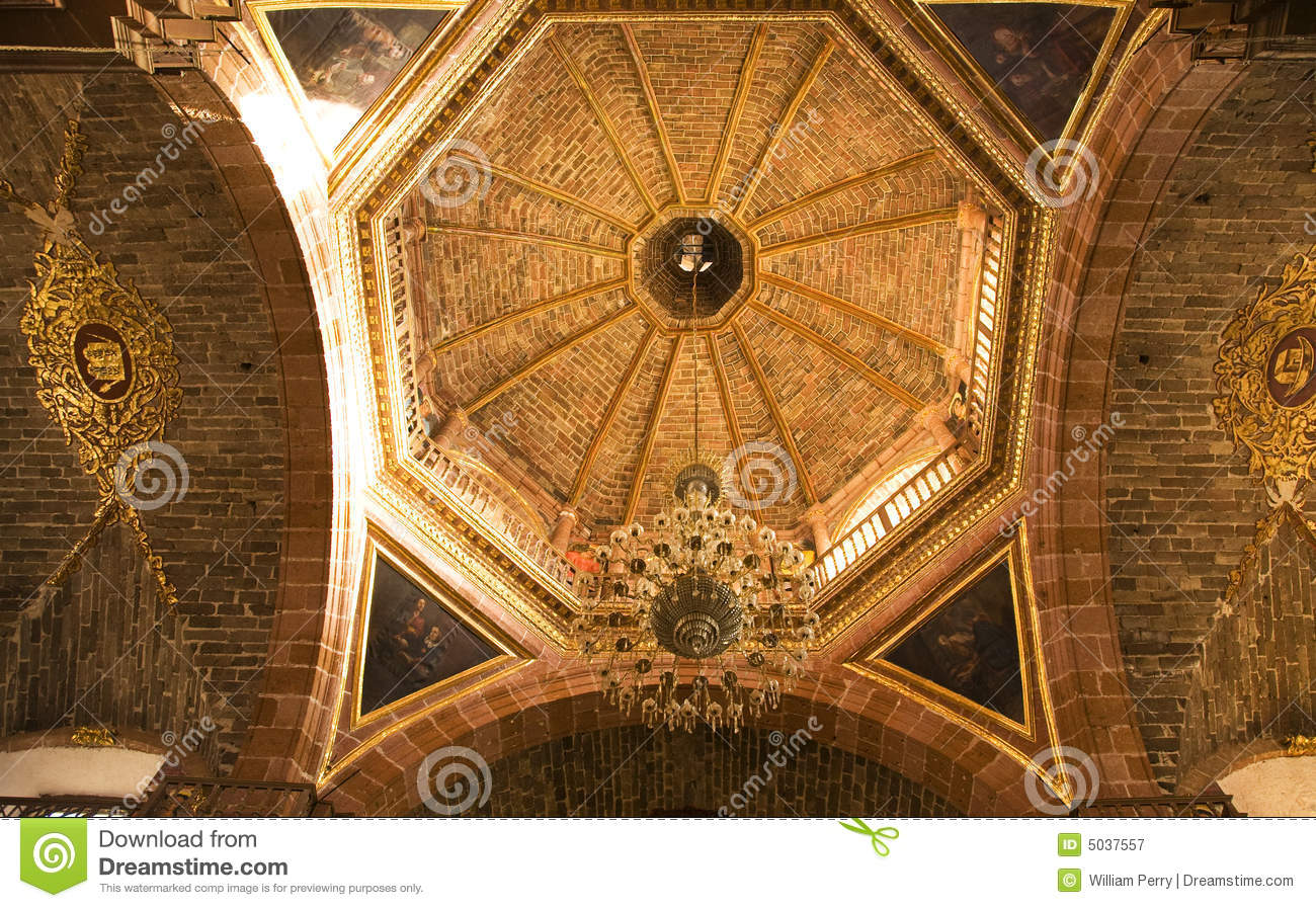 Ornate Church Ceiling Royalty Free Stock Photography - Image: 5037557