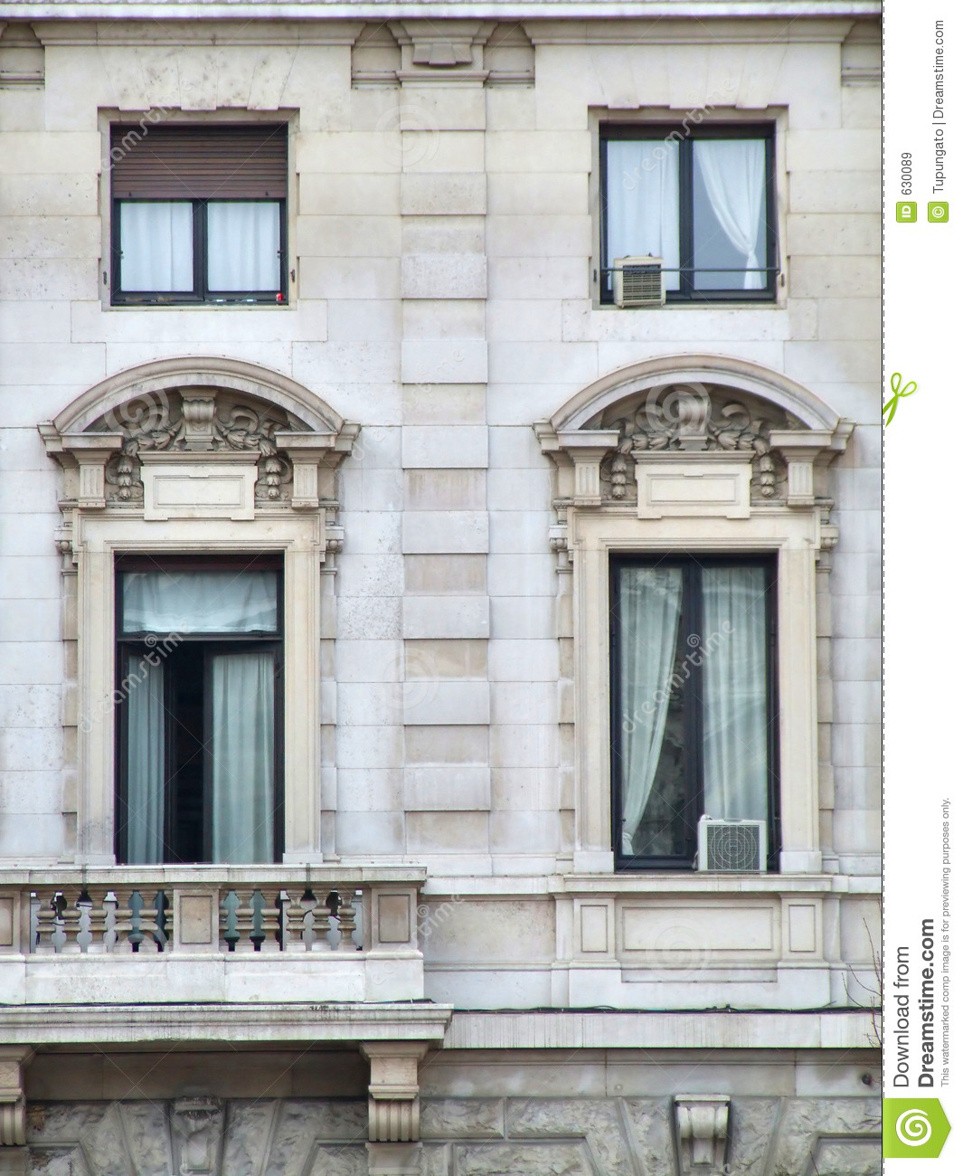 Ornate Decorative Windows Royalty Free Stock Images