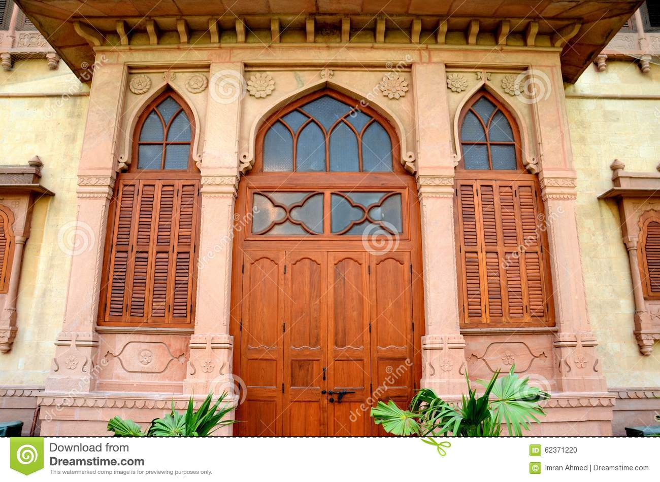 Ornate Designed Entrance Doorway To Mohatta Palace Museum