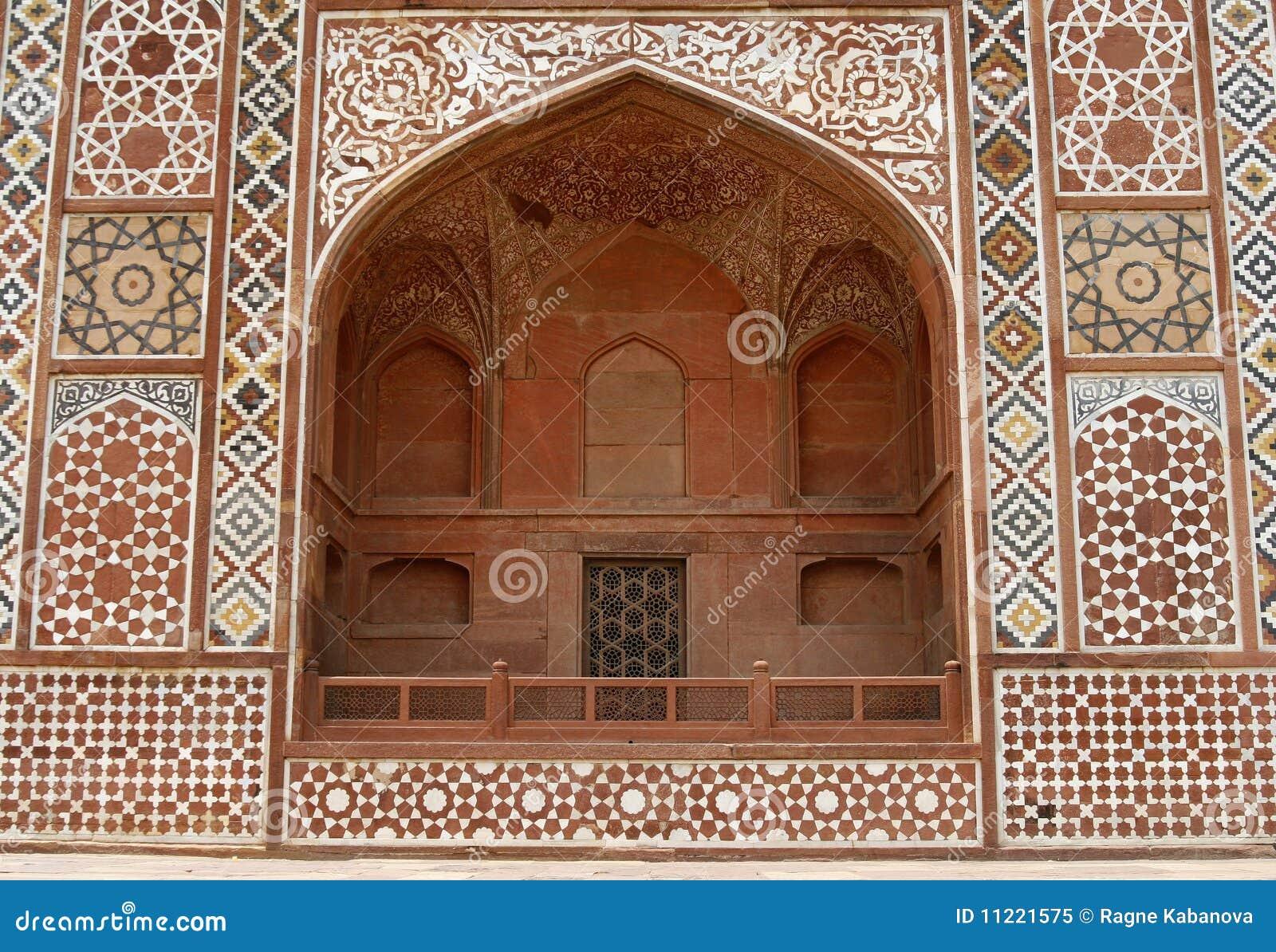 Ornate facade of Akbar s Tomb. Agra, India