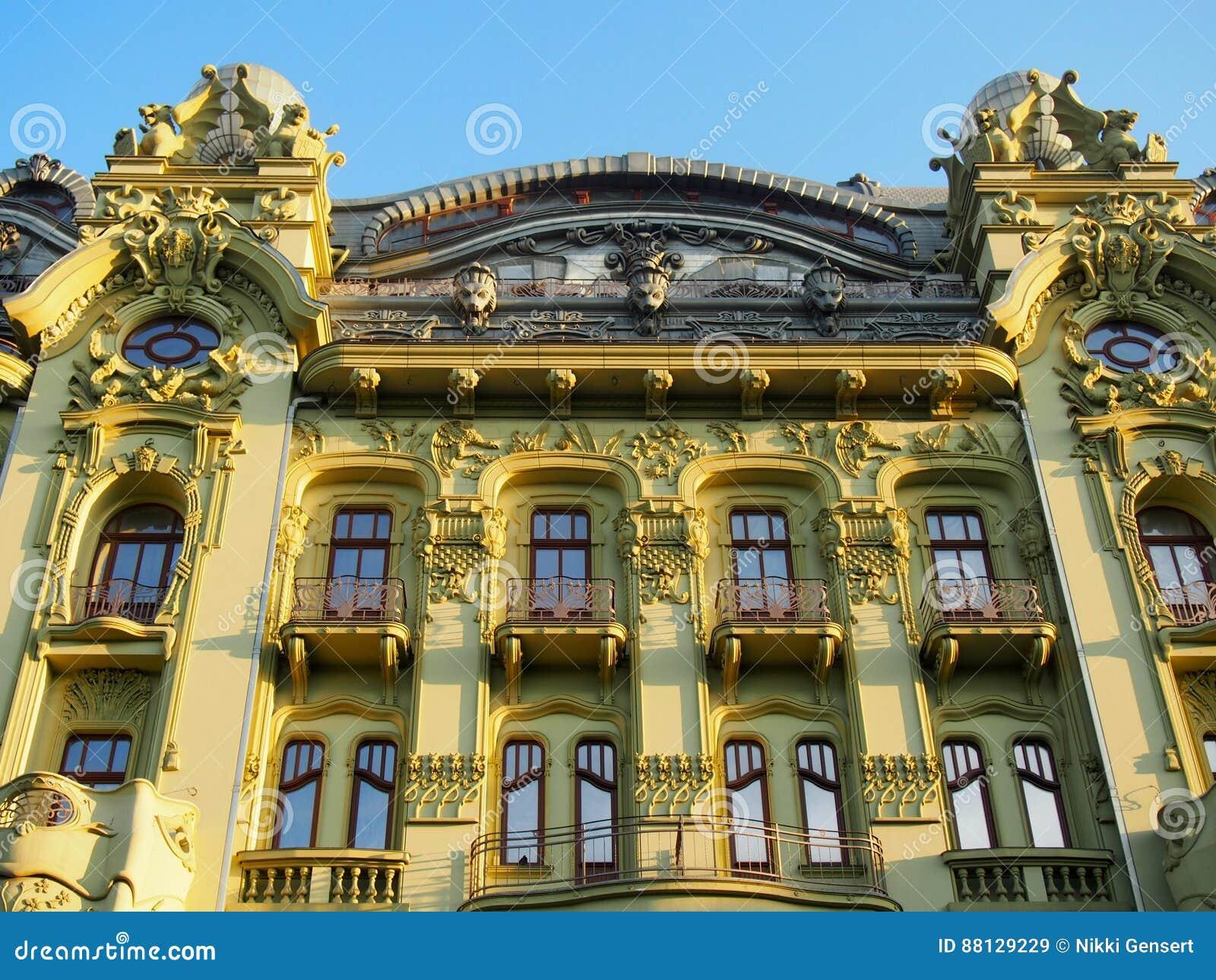 Ornate Facade On Building In Odessa Ukraine Stock Image ...