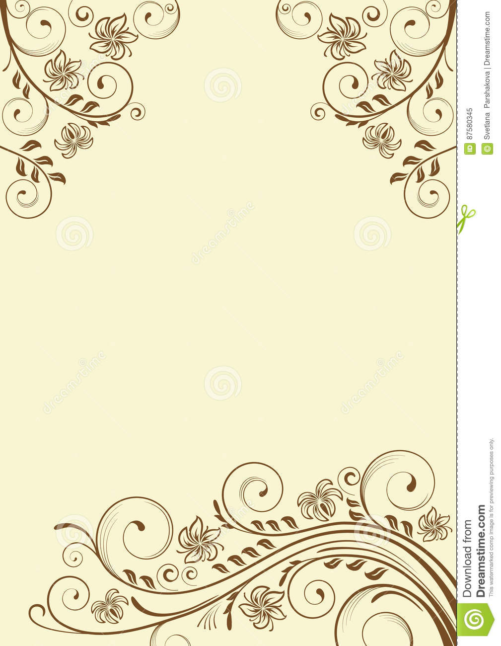 Ornate Floral Background A4 Stock Vector