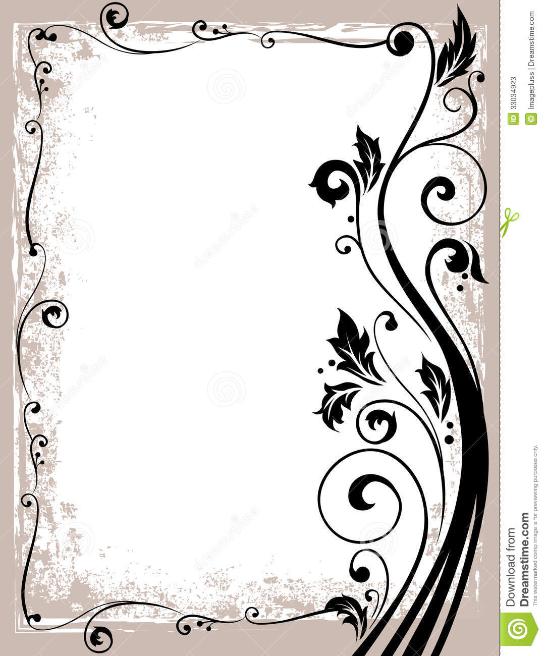 Ornate Floral Frame Stock Photos - Image: 33034923