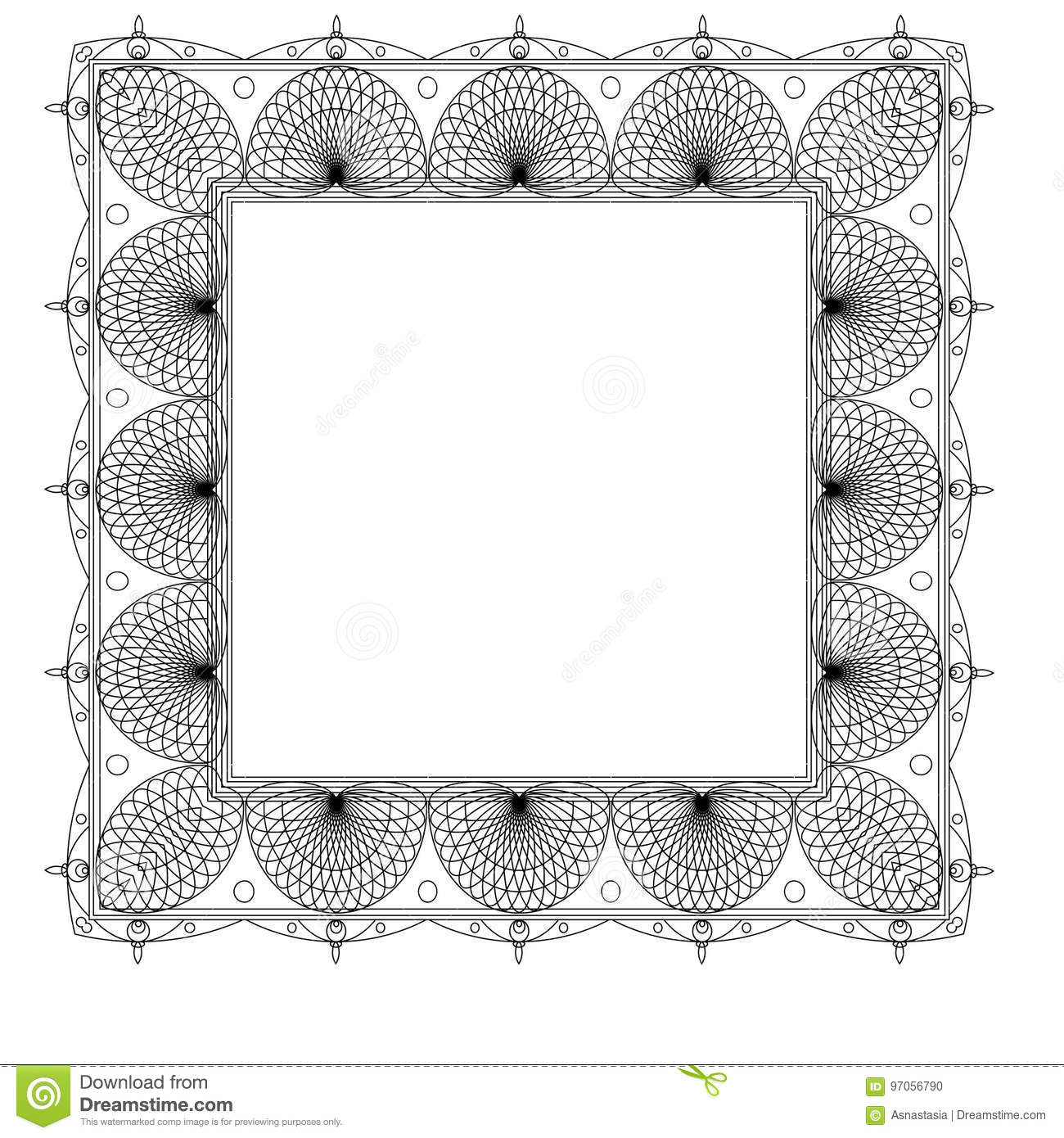 Ornate Frame And Borders Set Vector Stock Vector - Illustration of ...