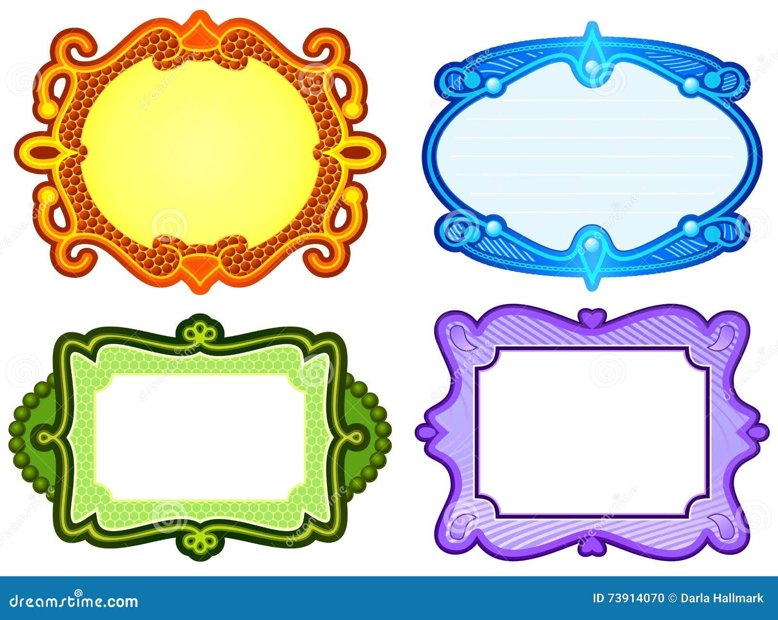 Ornate frame designs stock vector. Illustration of colorful - 73914070
