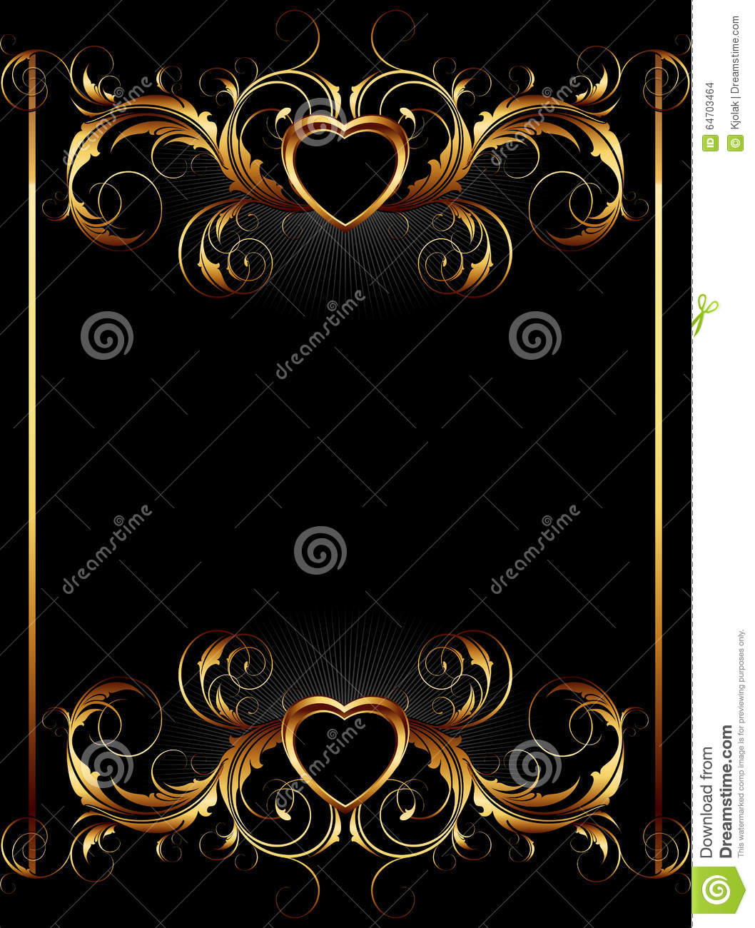 Ornate Frame With Heart Stock Vector Illustration Of Decorative