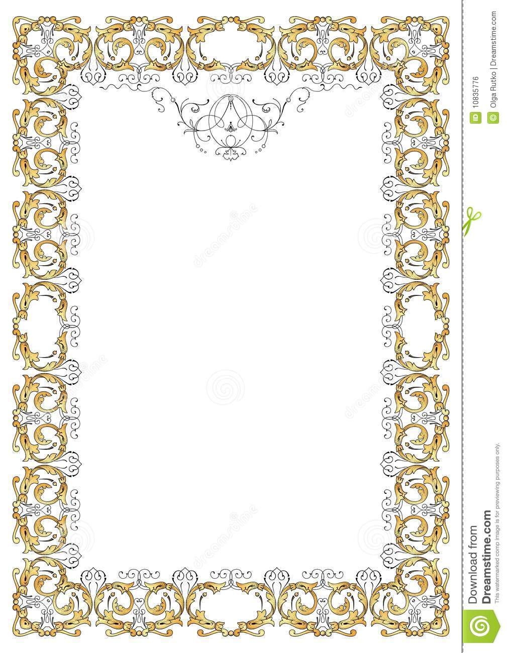 Royalty Free Stock Image  Ornate frame vectorOrnate Gold Frame Vector