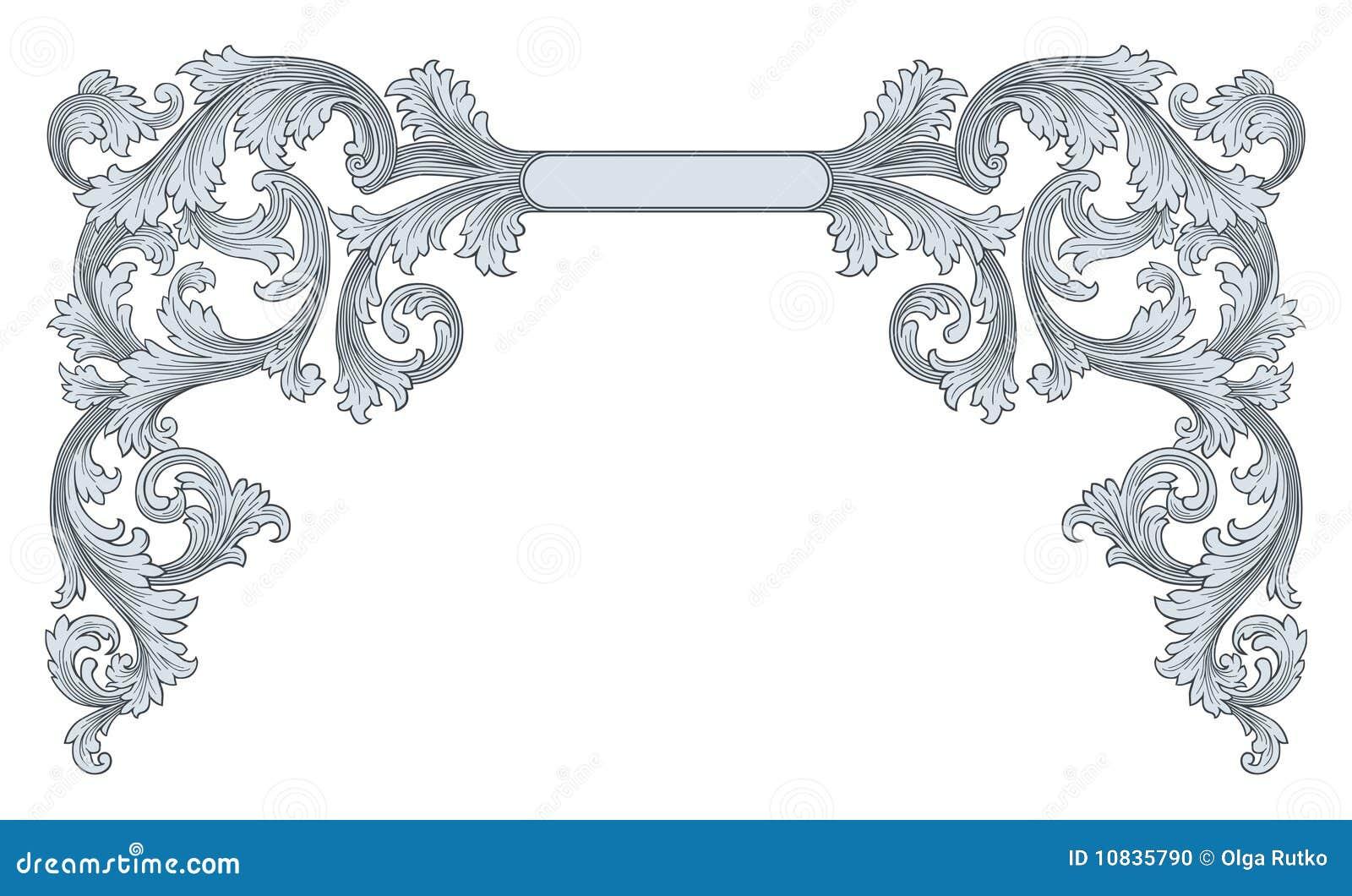 Ornate frame vector stock vector. Illustration of black ...