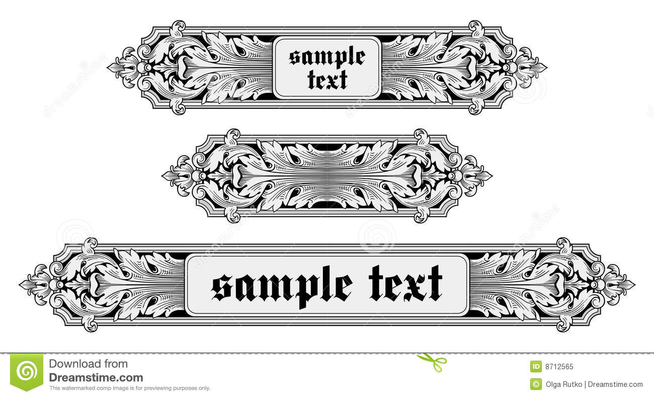 ornate frame vector stock vector illustration of abstract 8712565