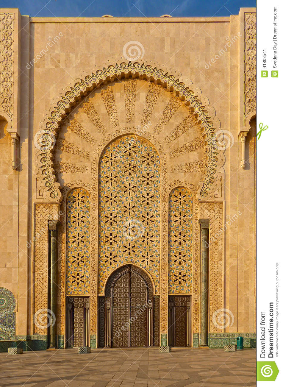 Ornate gates of a moroccan mosque stock photo image for Arabesque style decoration