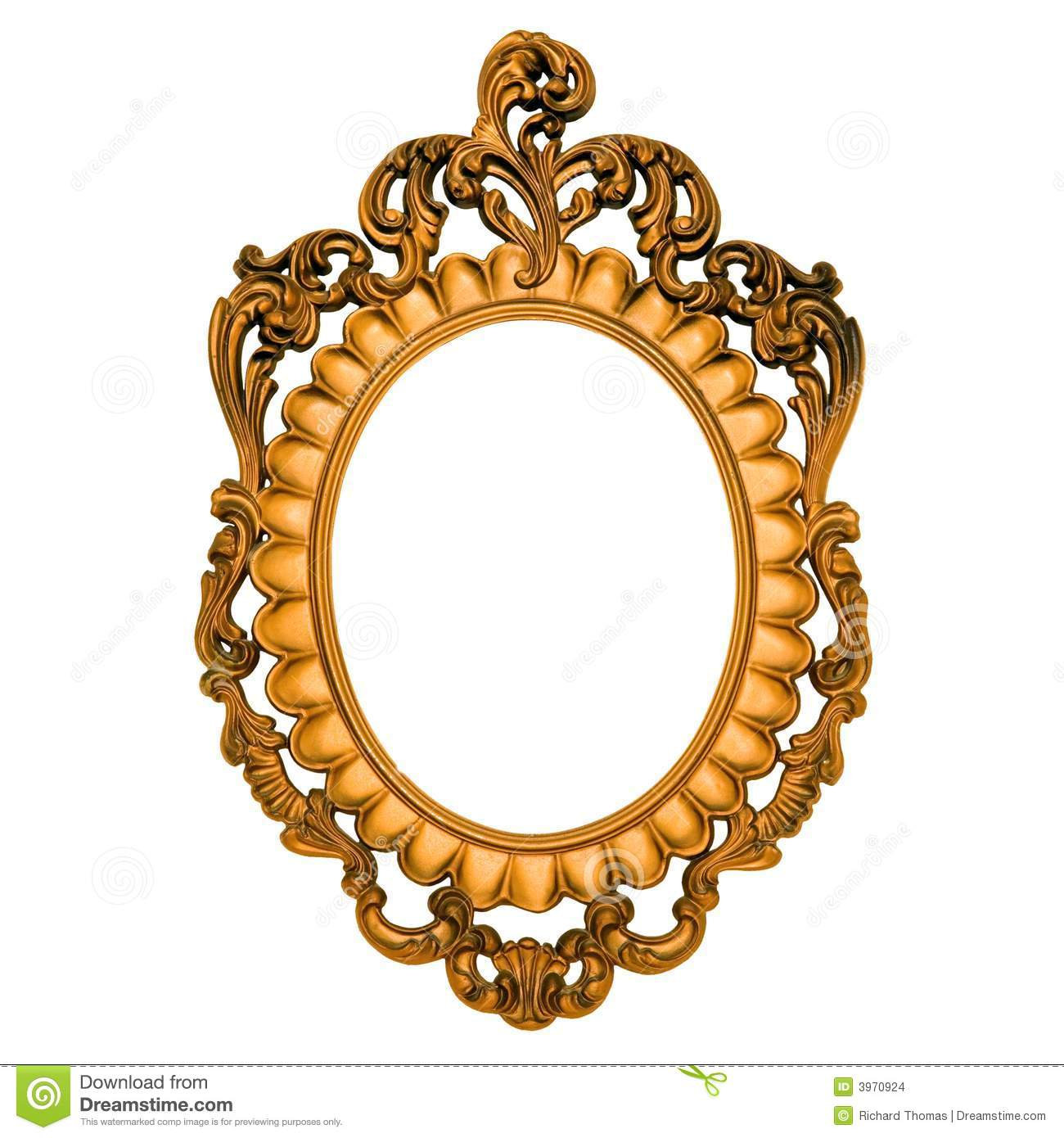 Ornate gold frame with blank canvas Ornate Gold Frame Vector