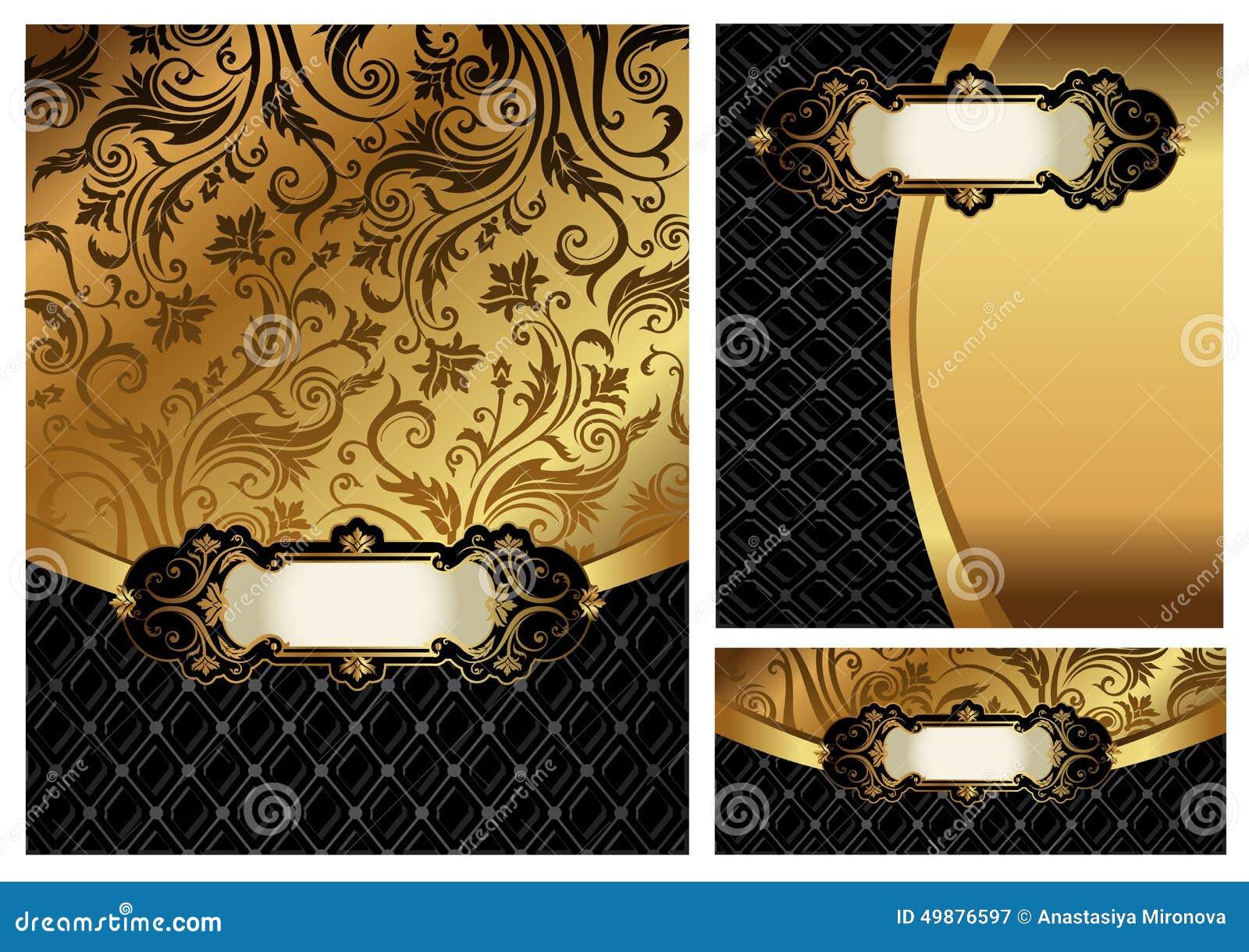 Ornate golden menu cover stock vector. Image of elegant ...