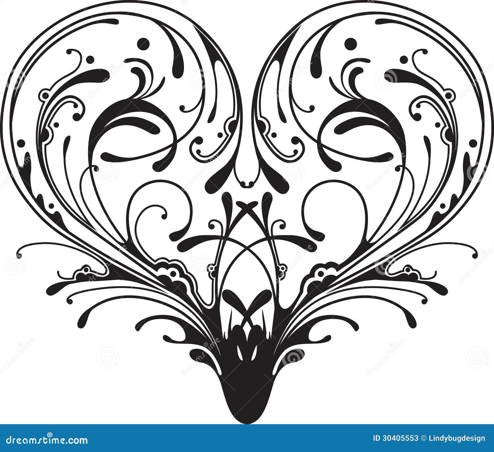 ornate heart stock vector image of fancy  emblem  elegant free filigree heart clip art free clip art in filigree and color teal