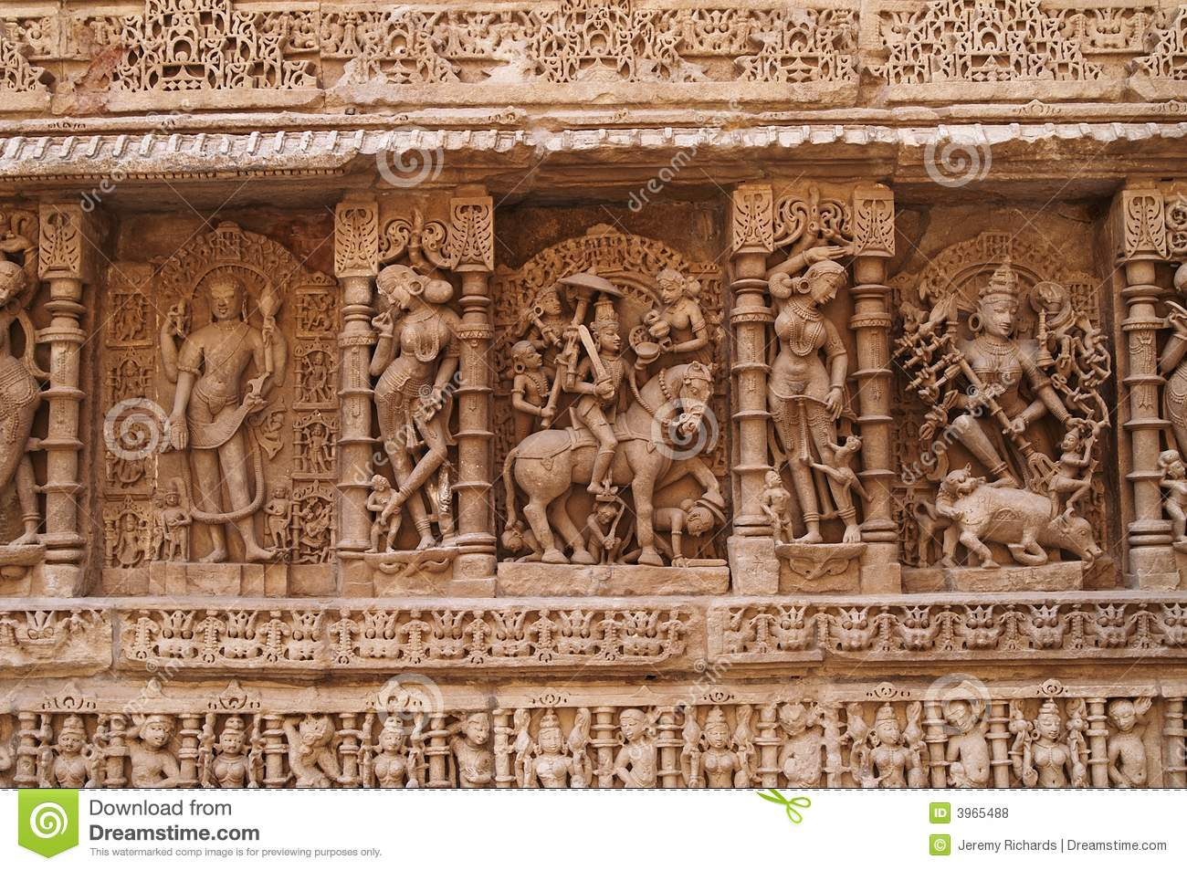 Ornate indian carvings stock photo image of panel carve
