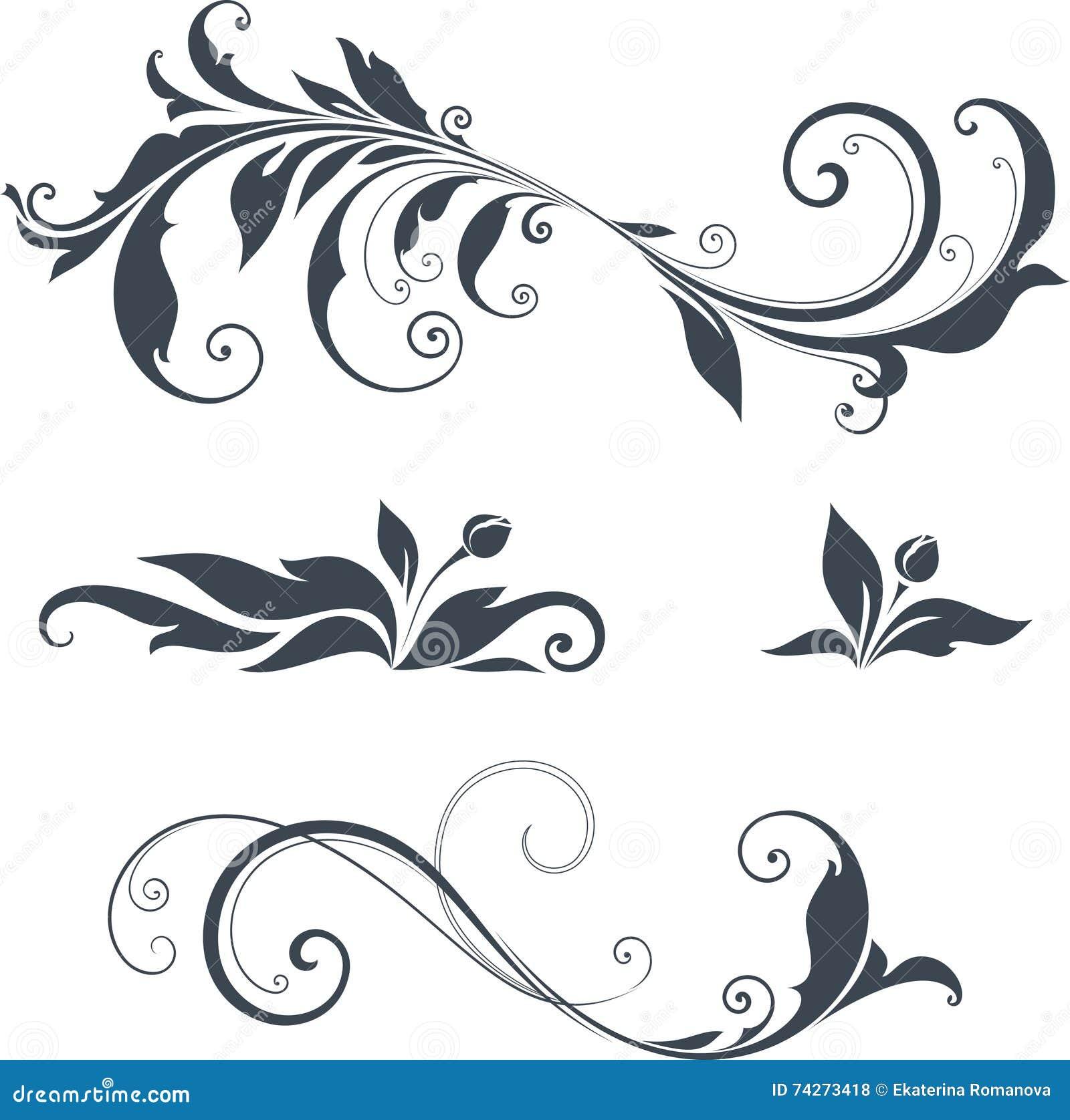 Ornate Motifs Design stock vector. Illustration of curl - 74273418