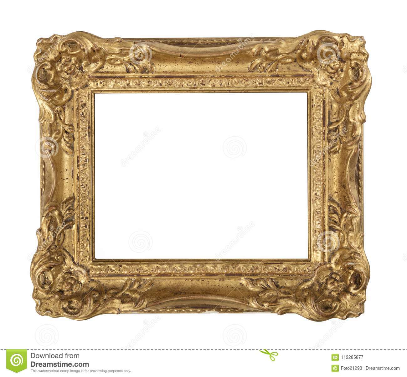 Ornate old gilded frame stock image. Image of traditional - 112285877